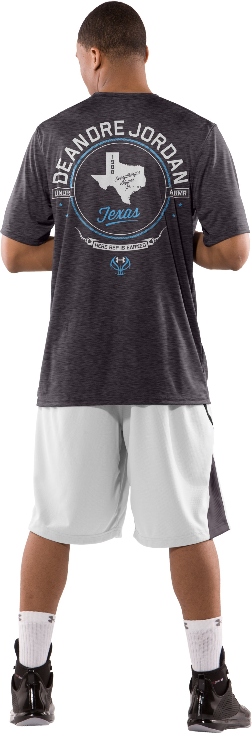 Men's DeAndre Jordan Player Reppin' T-Shirt, Carbon Heather, Back