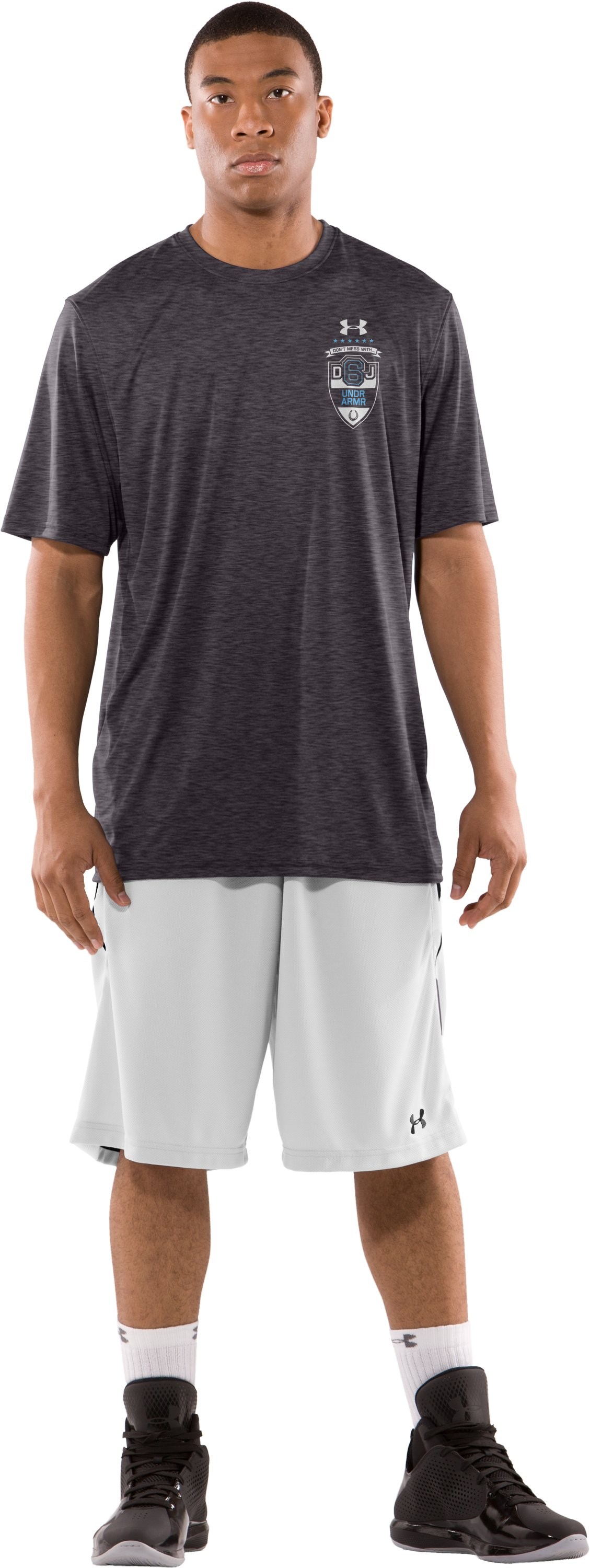 Men's DeAndre Jordan Player Reppin' T-Shirt, Carbon Heather, Front