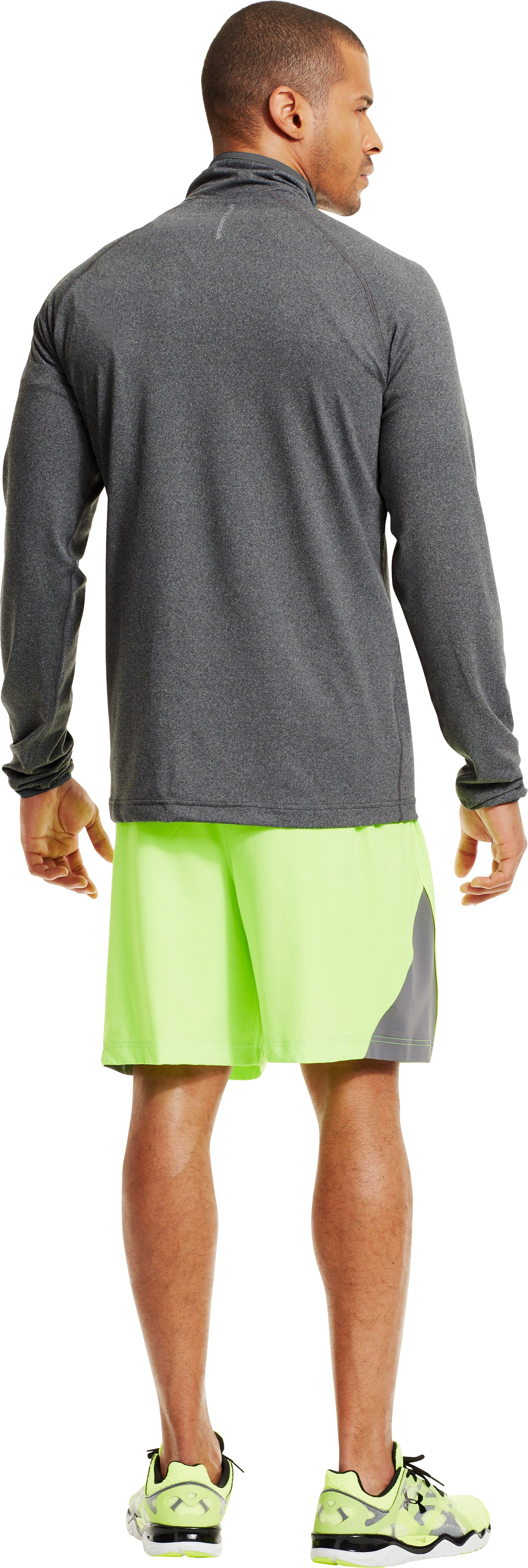 Men's UA HeatGear® Flyweight Run ¼ Zip, Graphite, Back