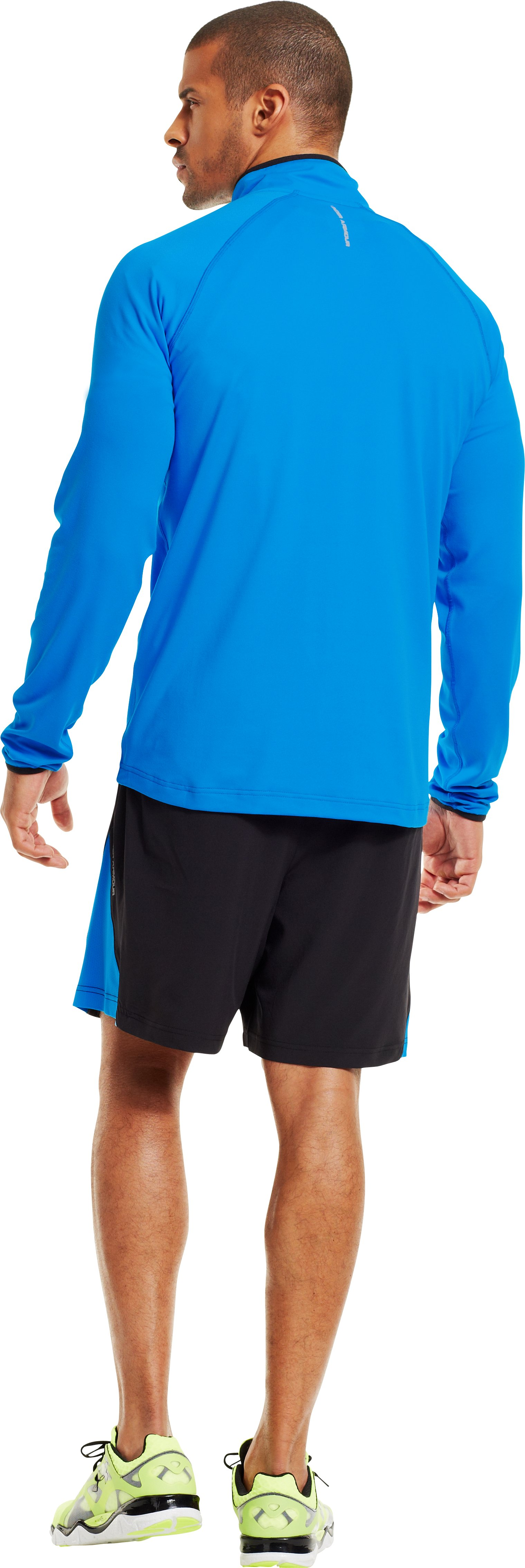 Men's UA HeatGear® Flyweight Run ¼ Zip, ELECTRIC BLUE, Back