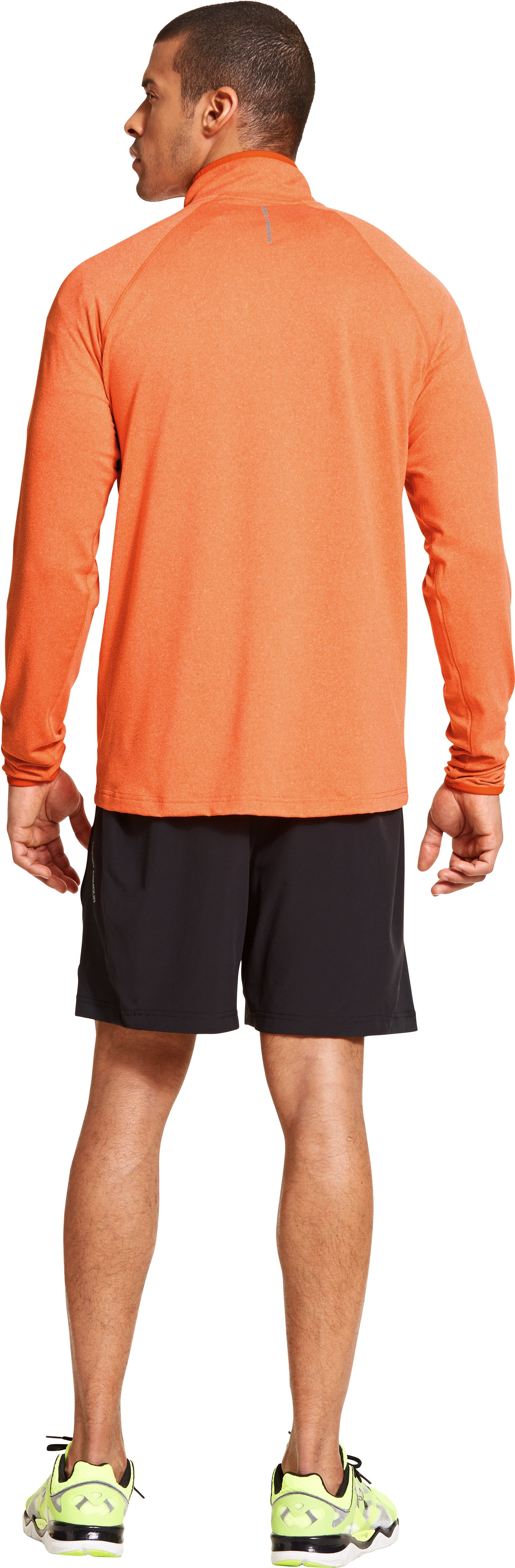 Men's UA HeatGear® Flyweight Run ¼ Zip, OUTRAGEOUS ORANGE, Back