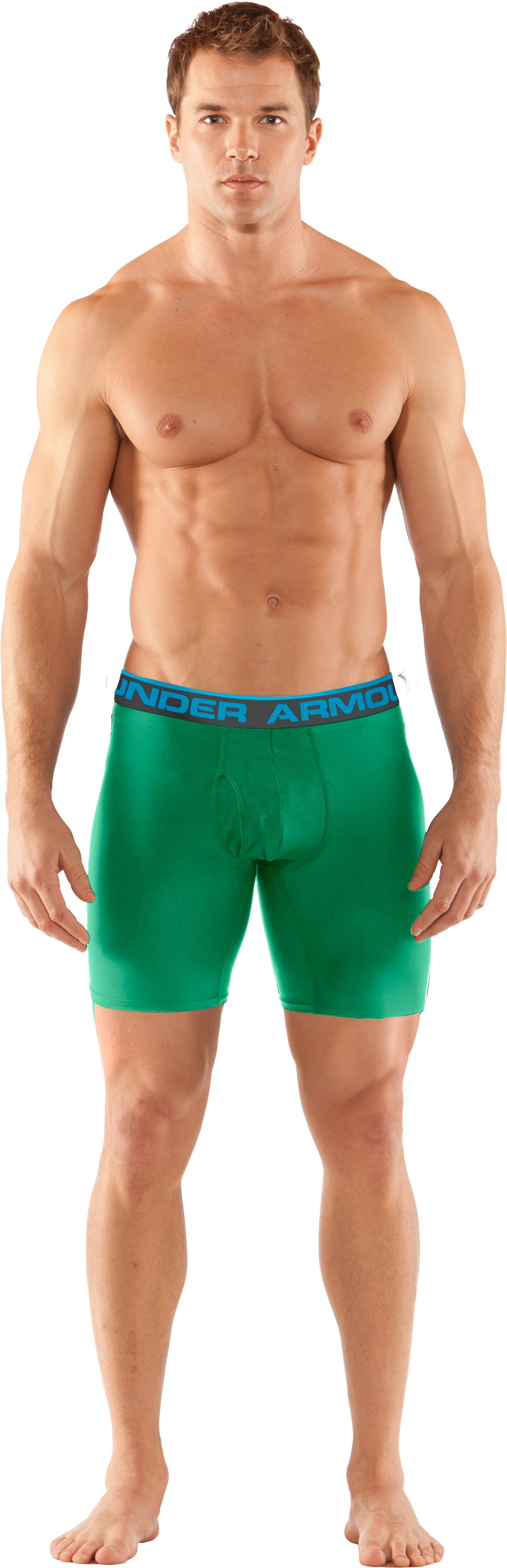 "Men's UA Original Series 6"" Boxerjock®, ASTRO GREEN, Front"