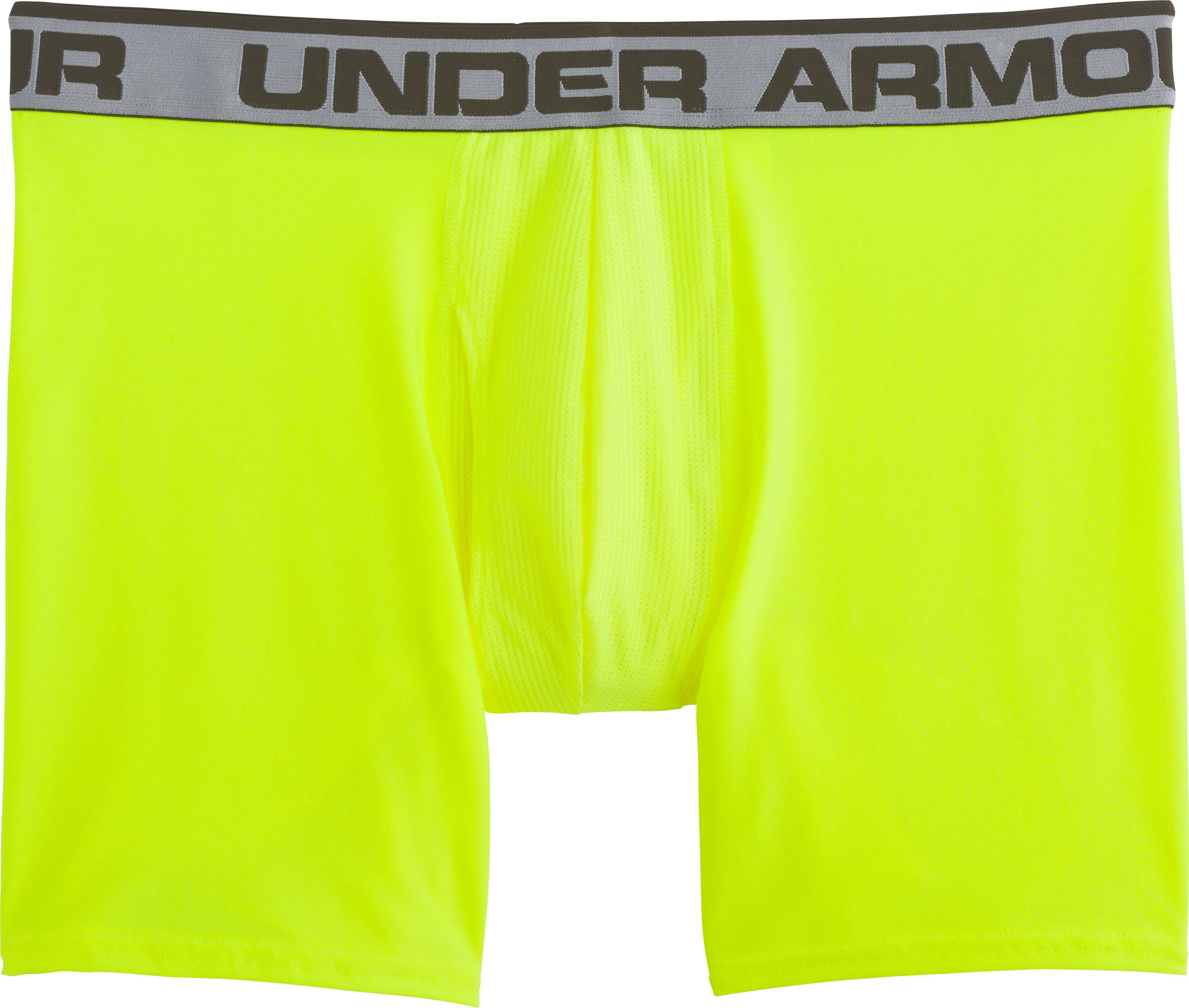 "Men's UA Original Series 6"" Boxerjock®, High-Vis Yellow, Laydown"