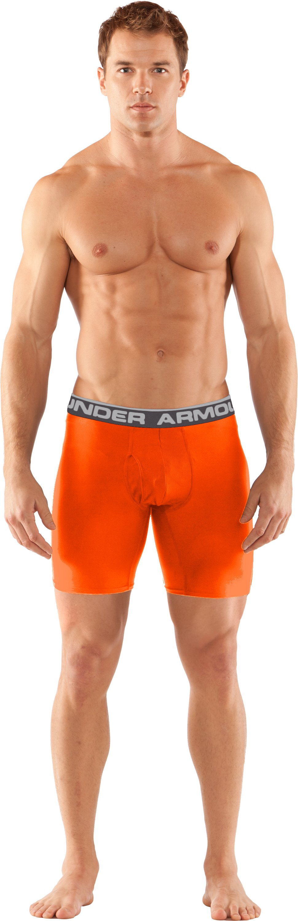 "Men's UA Original Series 6"" Boxerjock®, Blaze Orange, Front"