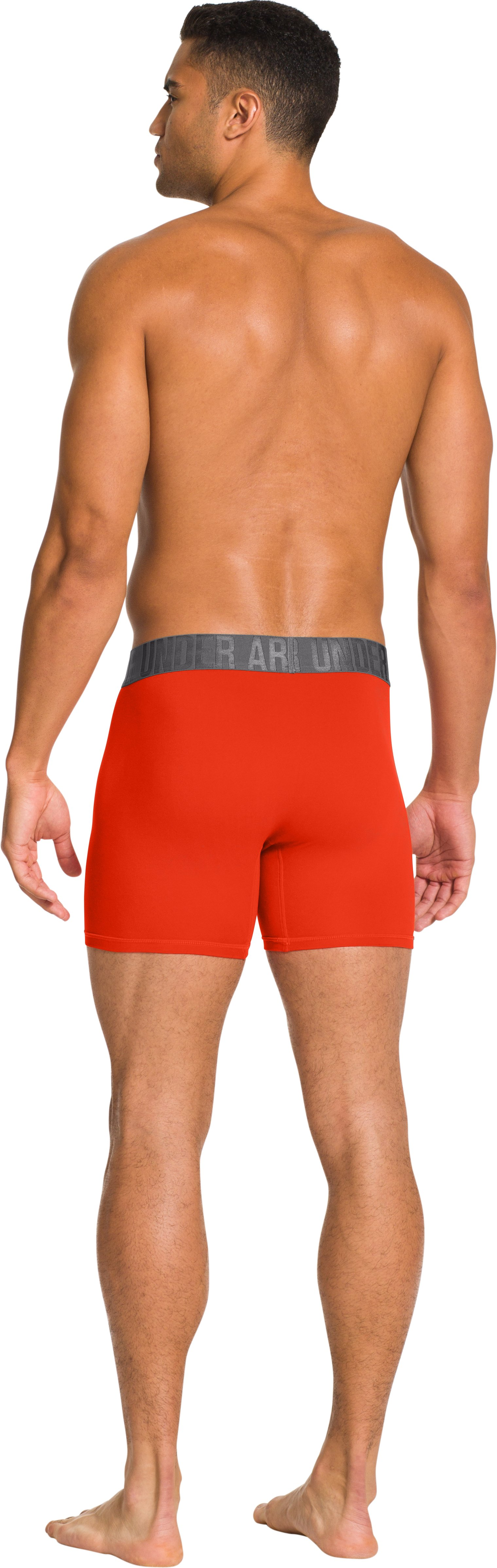 "Men's UA Elite 6"" Boxerjock® Boxer Briefs, Volcano, Back"