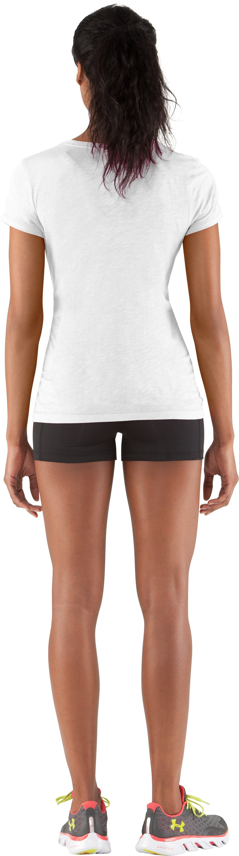 Women's UA Charm City Undeniable T-Shirt, White, Back