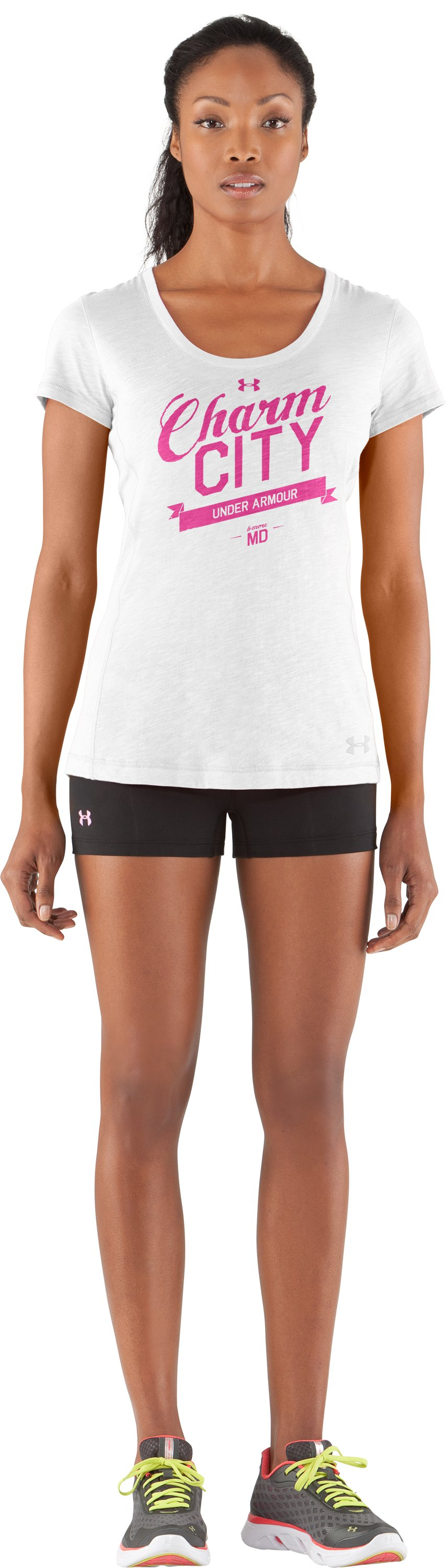 Women's UA Charm City Undeniable T-Shirt, White, Front