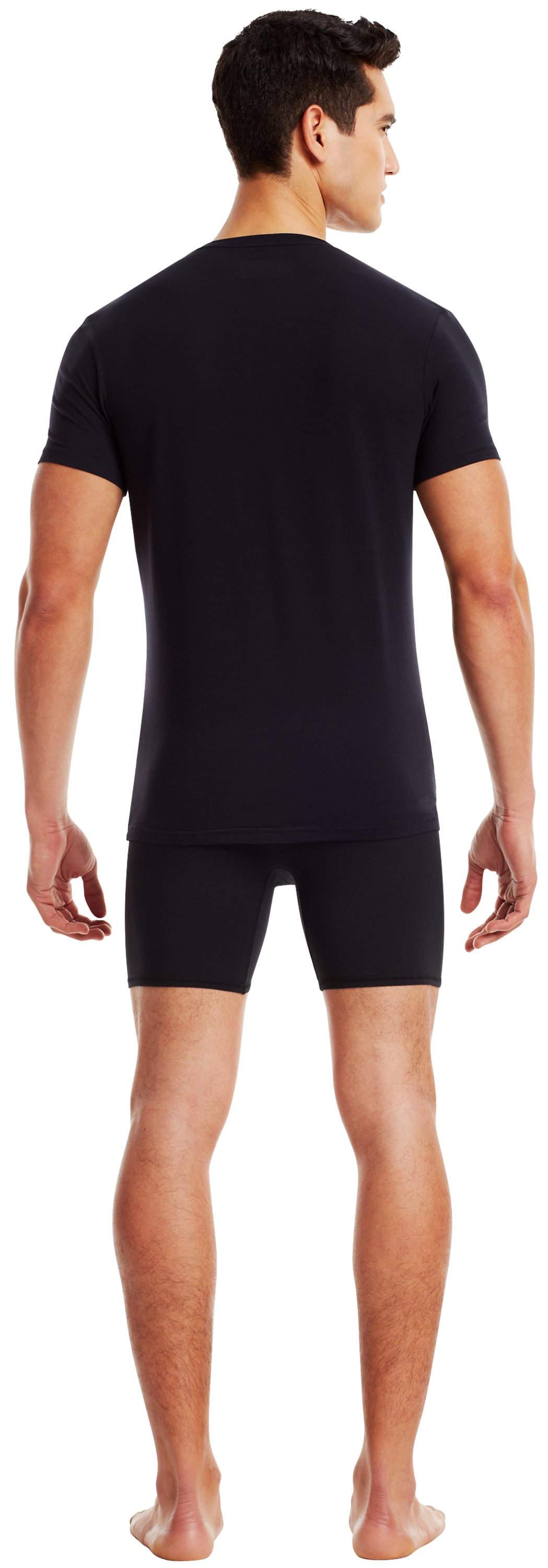 Men's UA Elite V-Neck Undershirt, Black , Back
