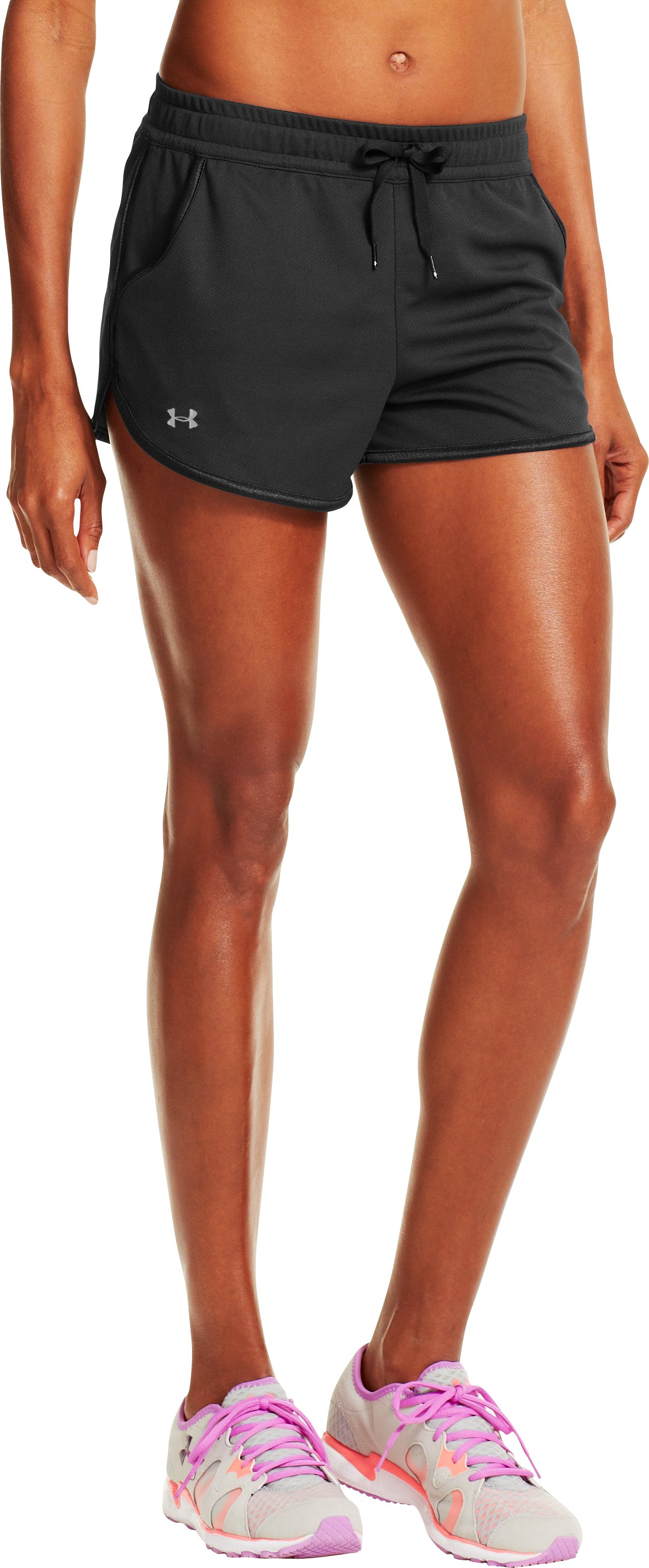 Women's UA Rally Shorts, Black , zoomed image