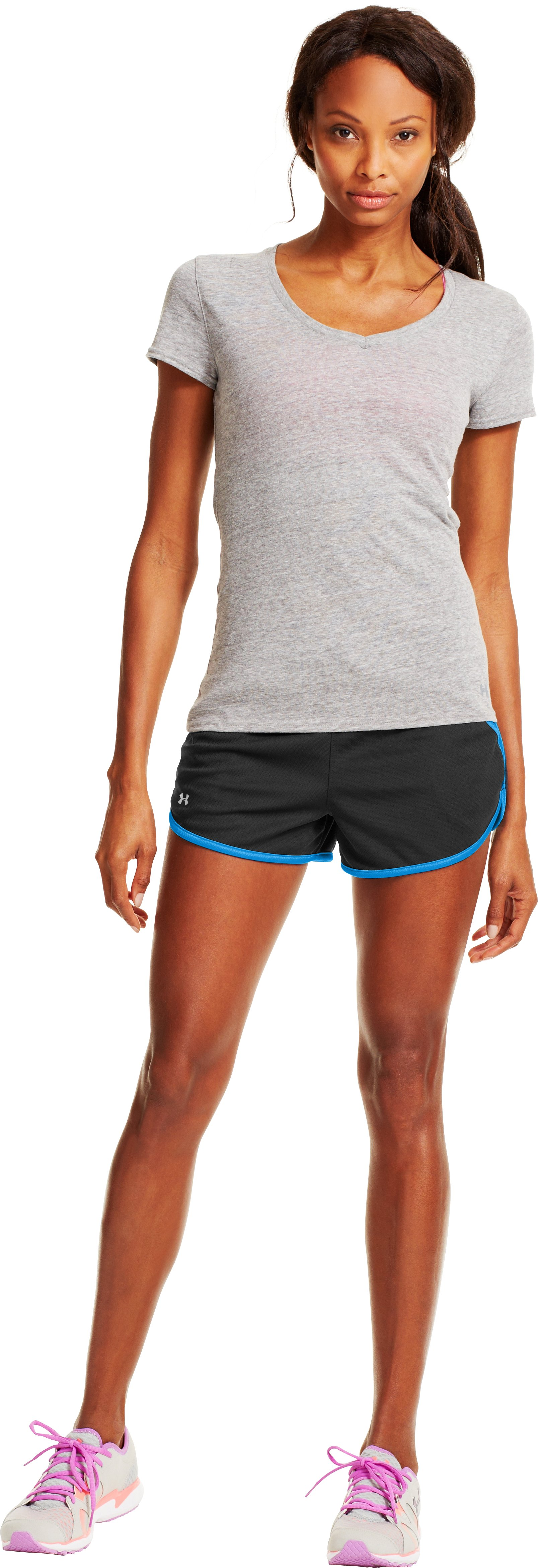 Women's UA Rally Shorts, Black , Front