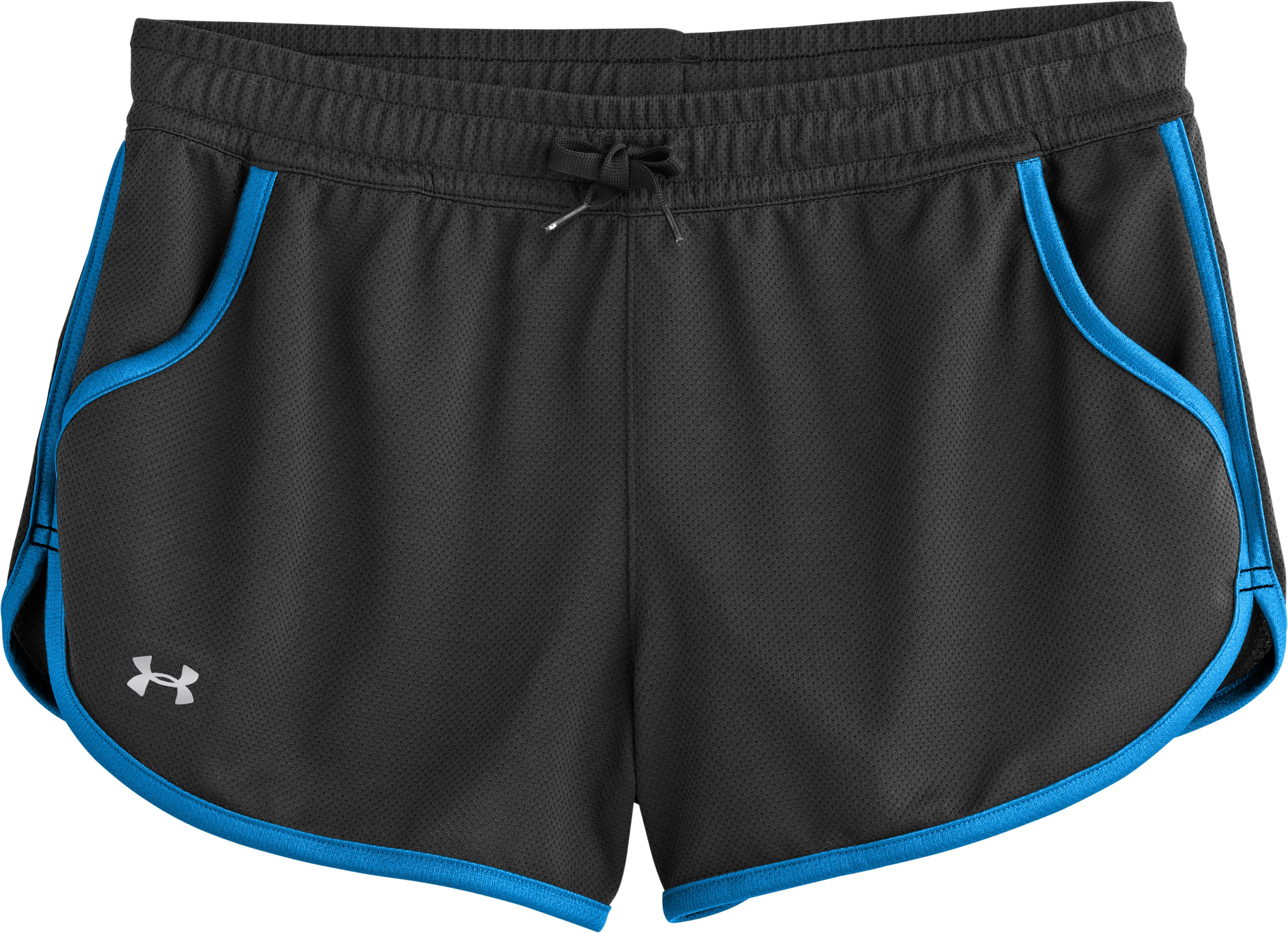 Women's UA Rally Shorts, Black , Laydown