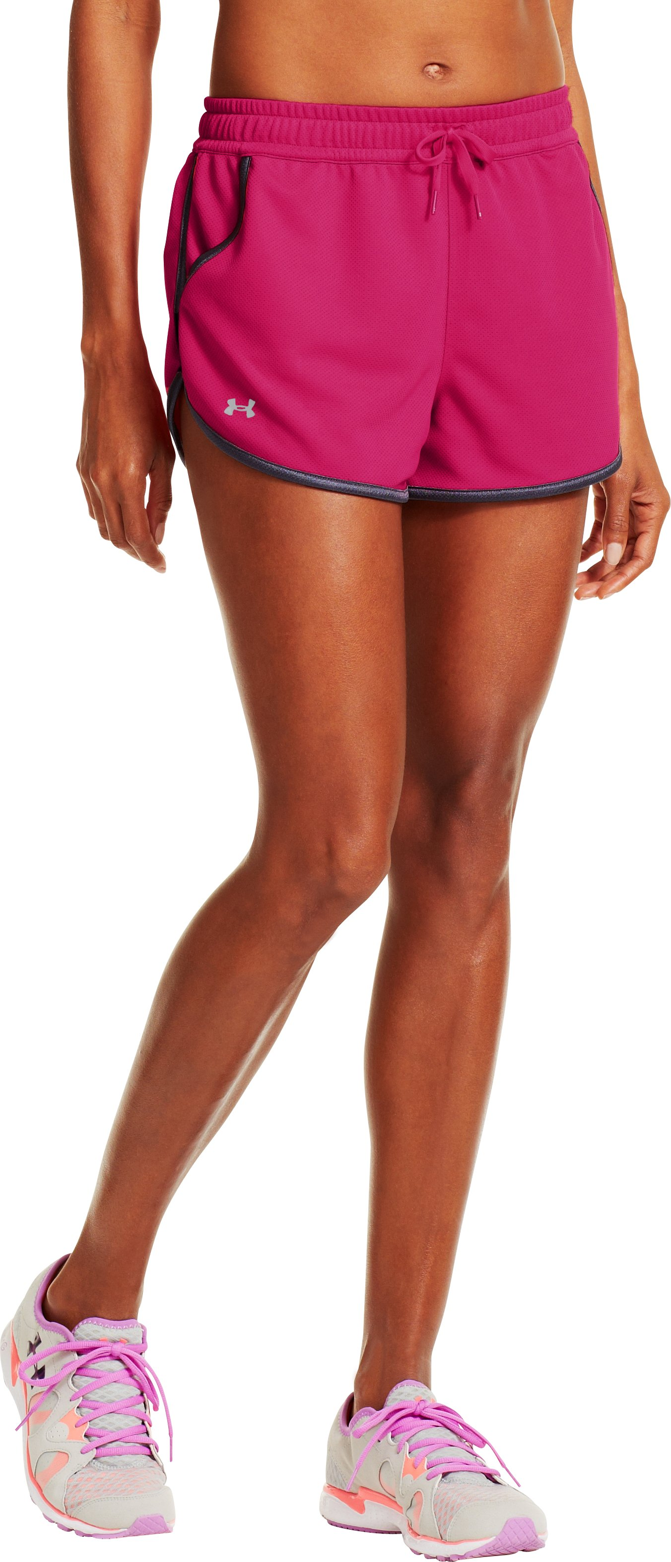 Women's UA Rally Shorts, EXUBERANT PINK, zoomed image
