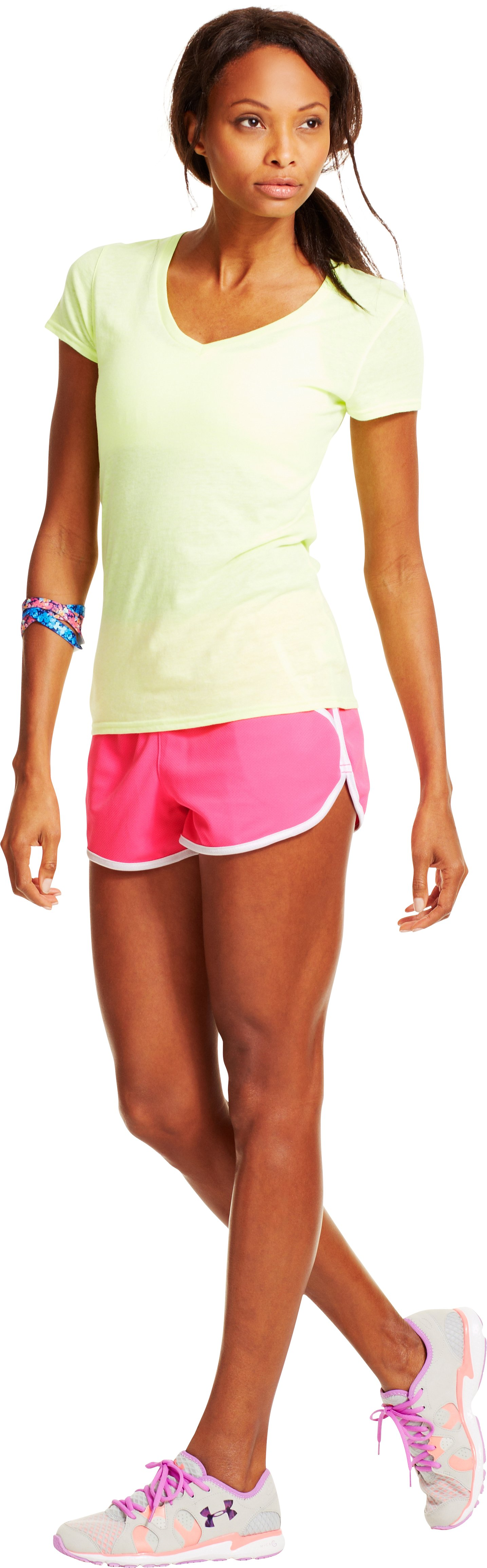 Women's UA Rally Shorts, CHAOS, Front