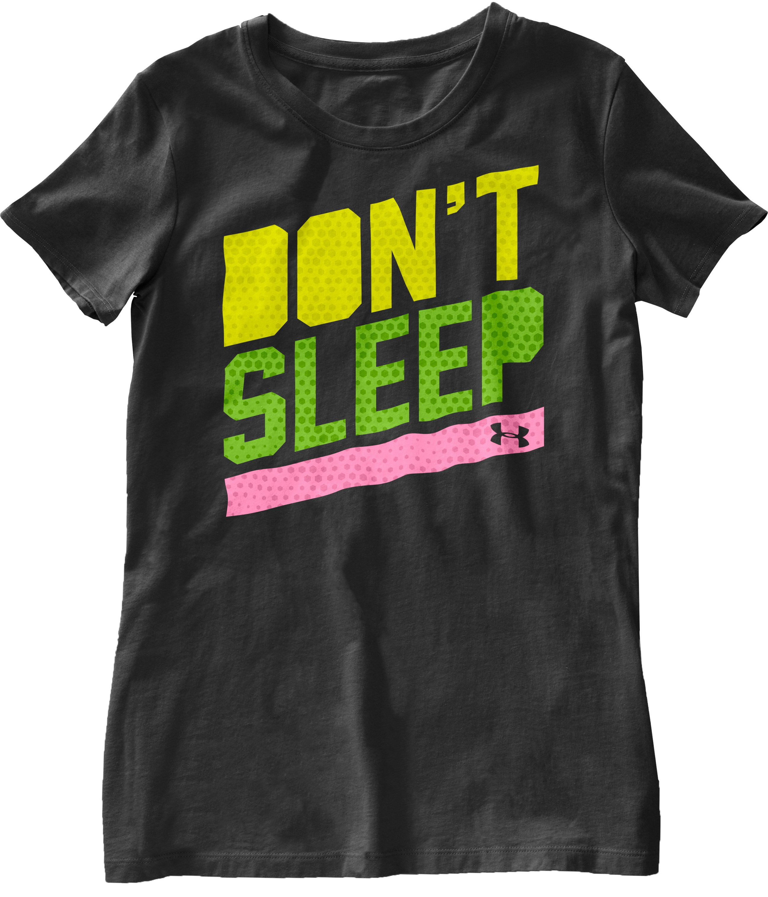 Women's UA Don't Sleep T-Shirt, Black , Laydown