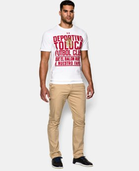Men's Deportivo Toluca UA Quote T-Shirt  1 Color $14.24
