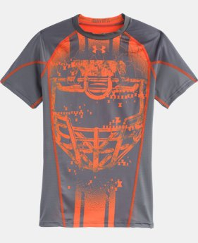 Boys' UA Army Of 11 Football Short Sleeve Baselayer
