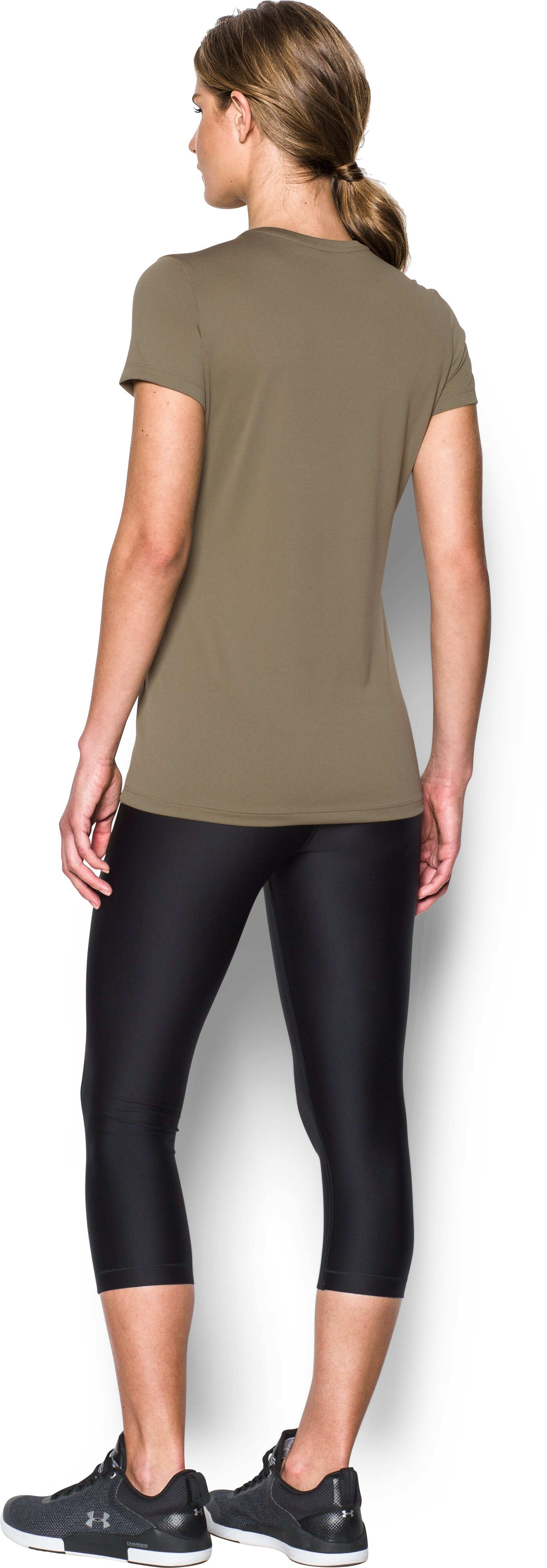 Women's UA Tech™ Tactical T-Shirt, FEDERAL TAN, Back