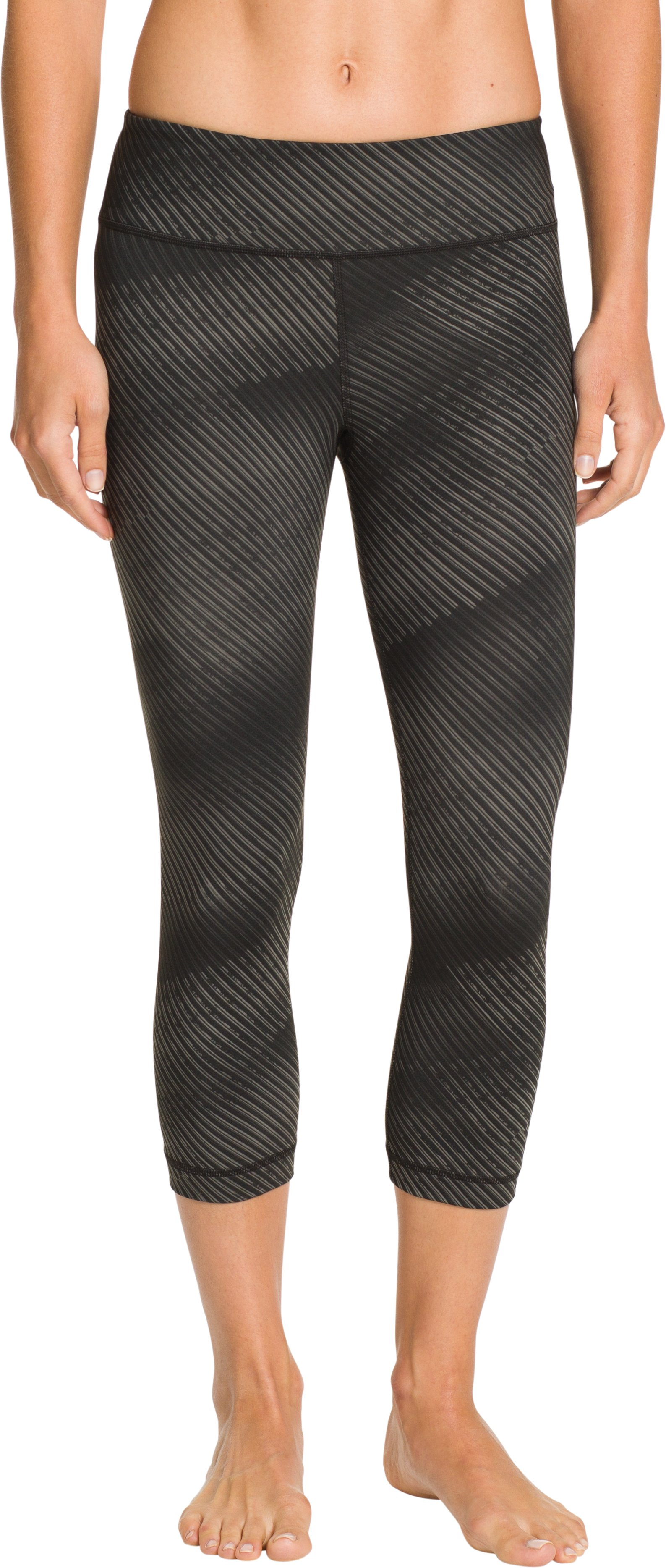 Women's UA Perfect Tight Printed Capri, Black , zoomed image