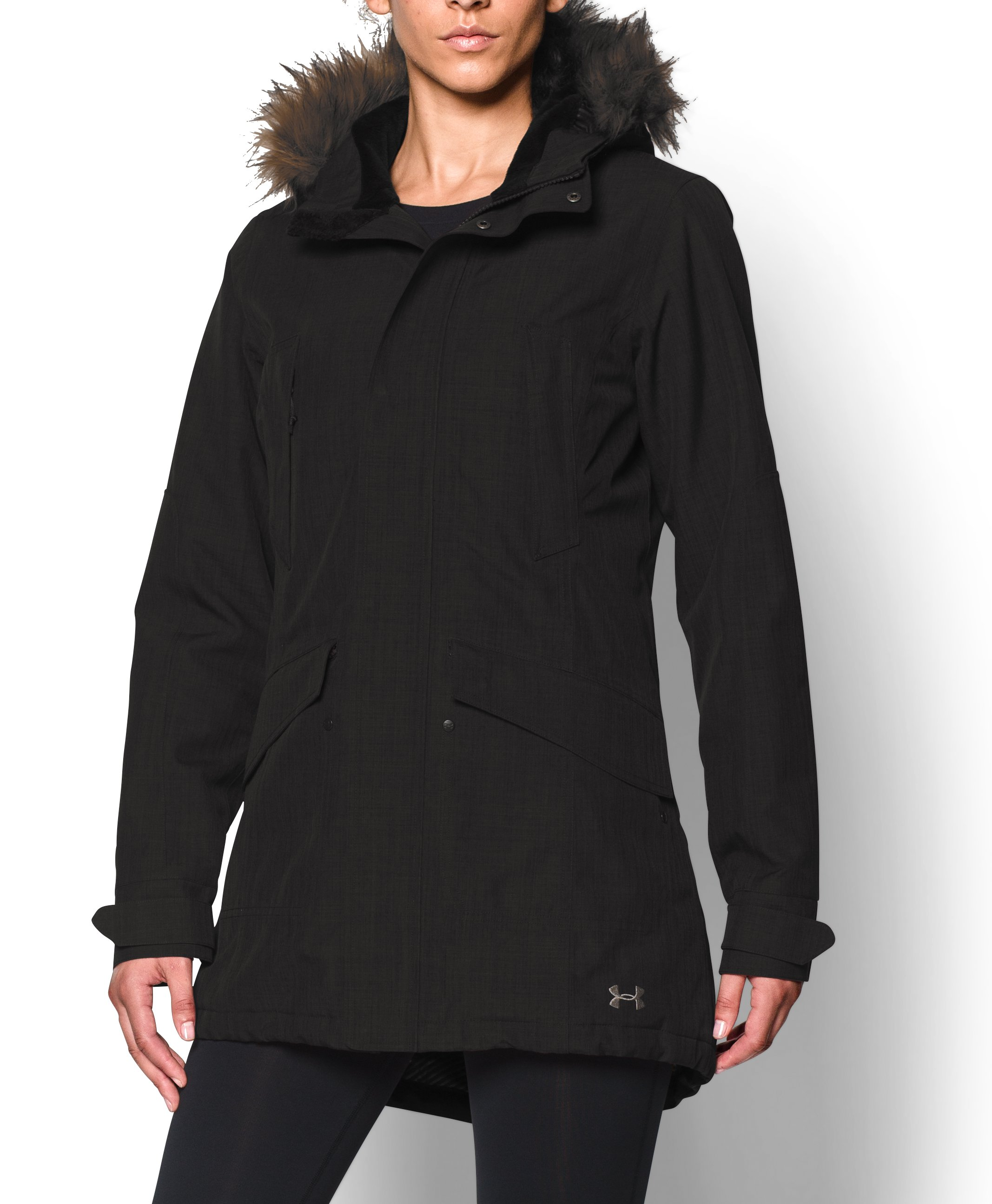 Women's UA ColdGear® Infrared Avondale Parka, Black , zoomed image
