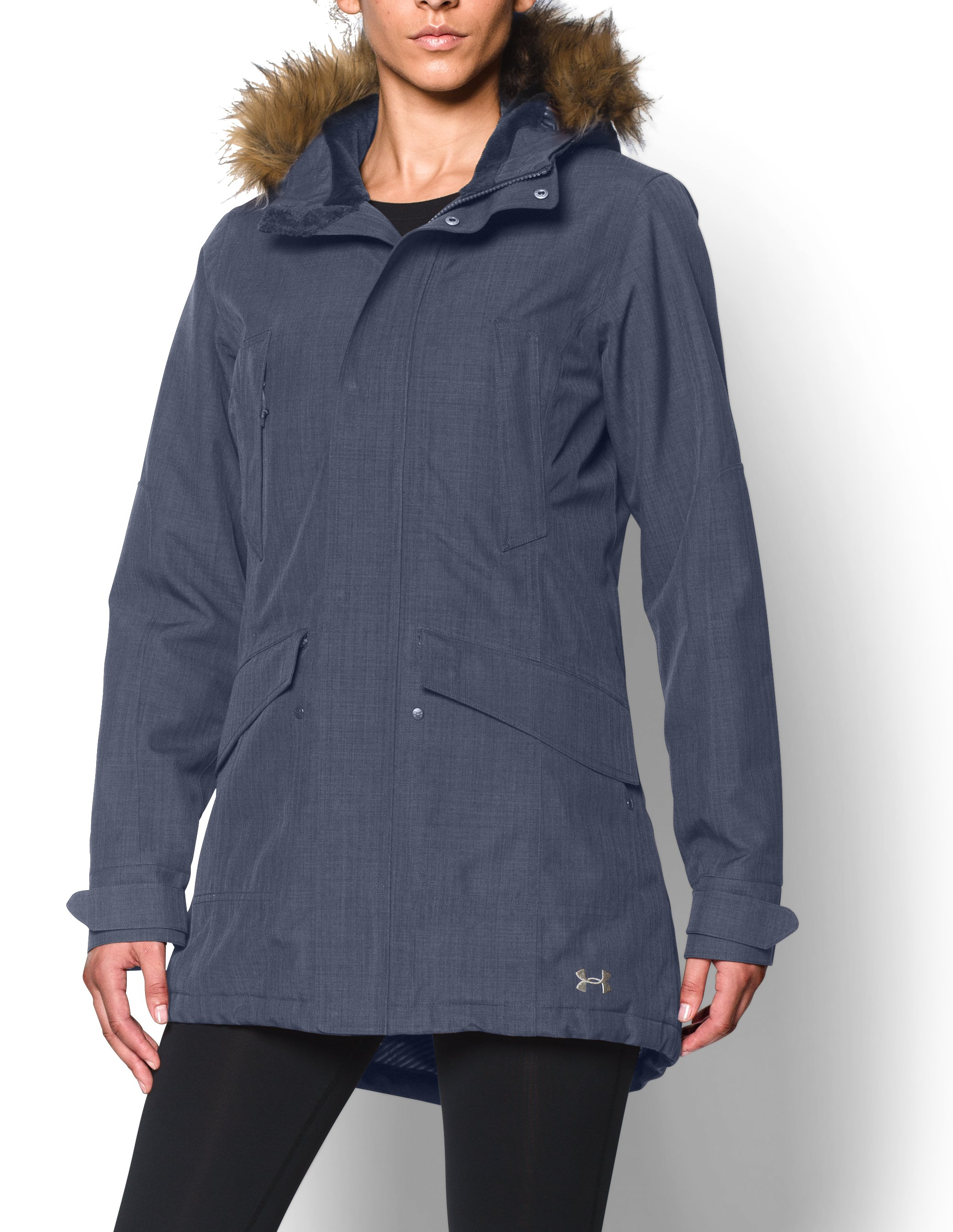 Women's UA ColdGear® Infrared Avondale Parka, Mechanic Blue, Front