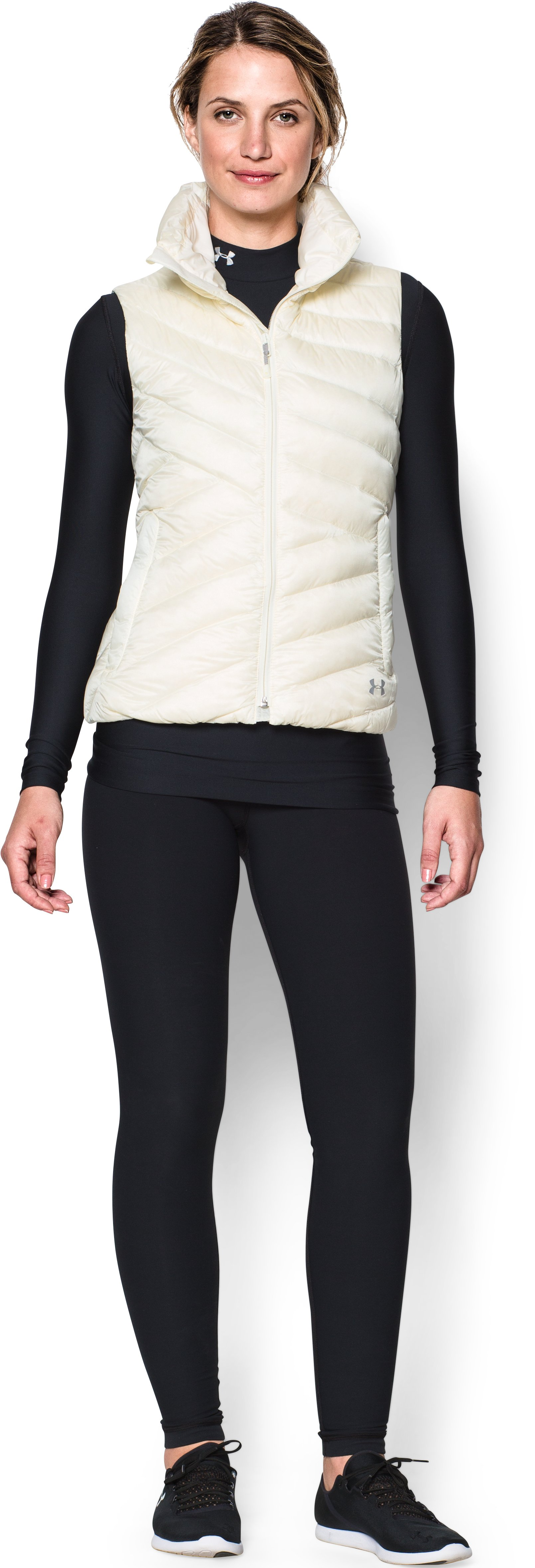 Women's UA ColdGear® Infrared Uptown Vest, Ivory, Front