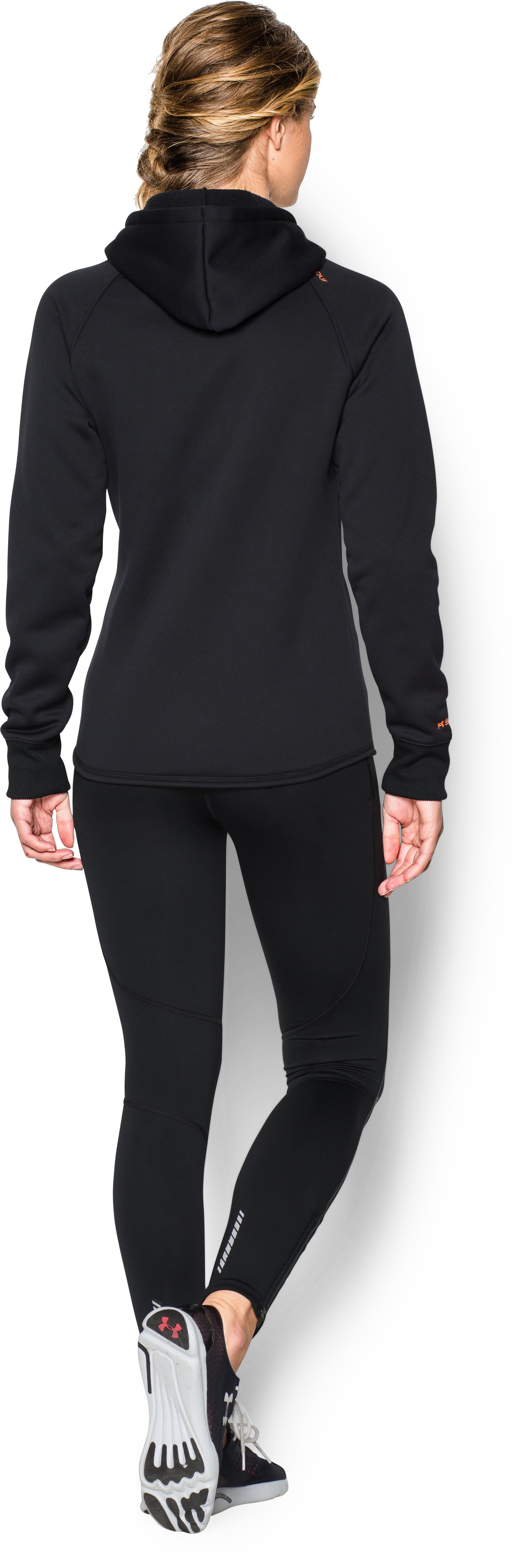 Women's UA Storm Armour® Fleece Big Logo Hoodie, Black , Back
