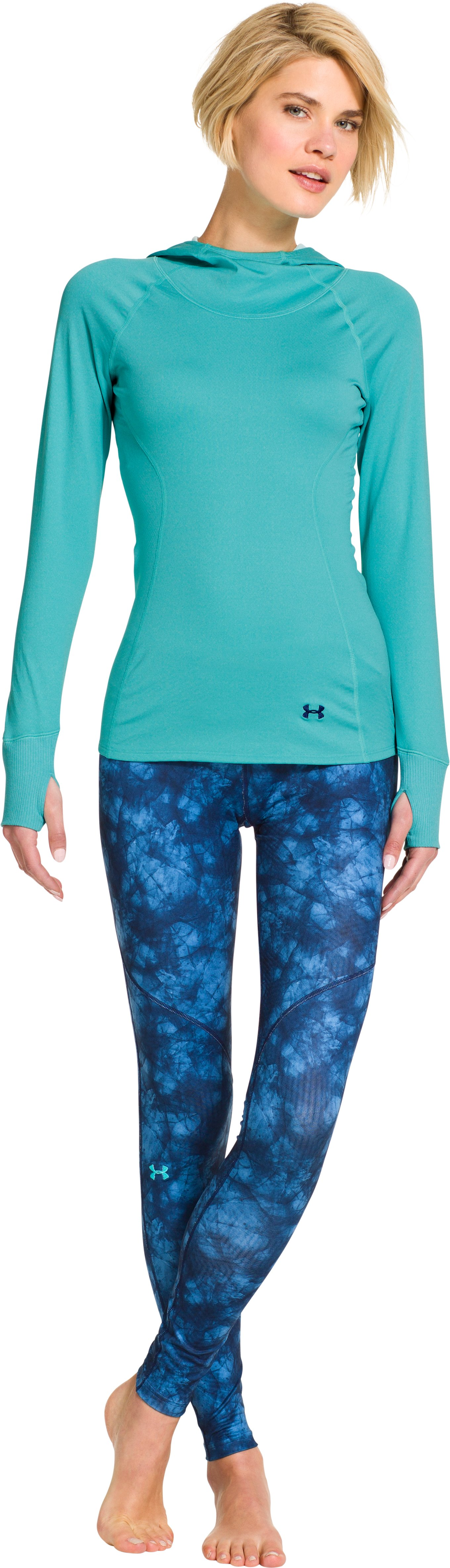 Women's ColdGear® Infrared Devo Hoodie, BREATHTAKING BLUE, Front