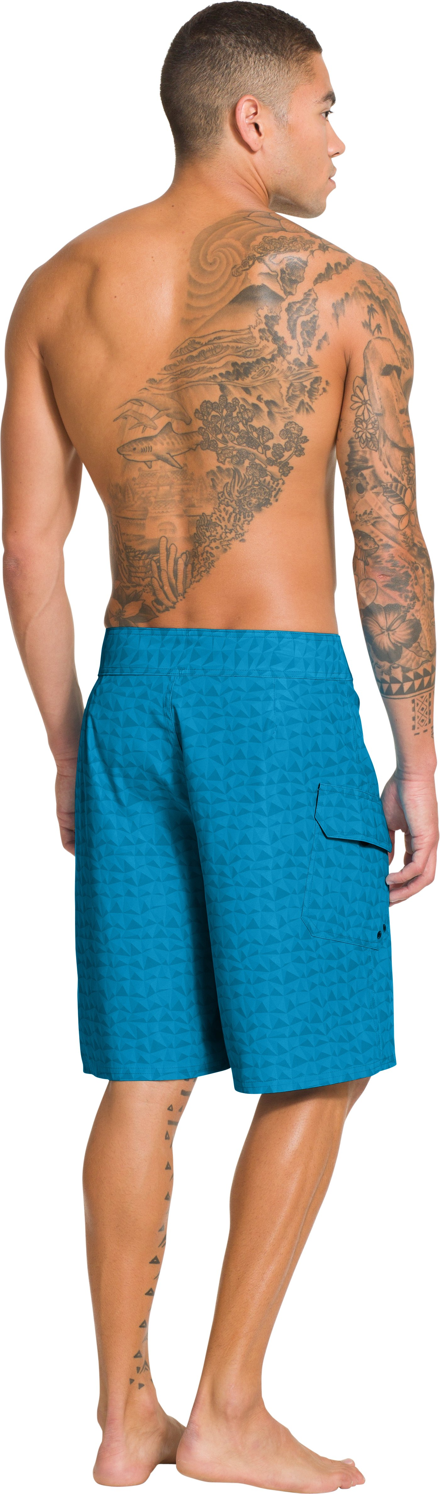 Men's UA Explorit Boardshorts, PIRATE BLUE, Back