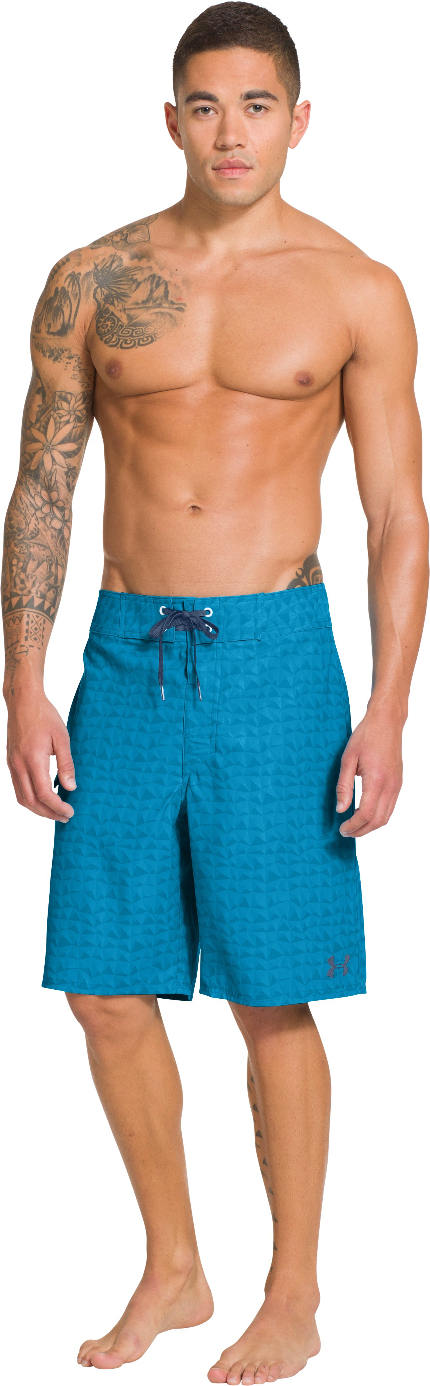 Men's UA Explorit Boardshorts, PIRATE BLUE, Front
