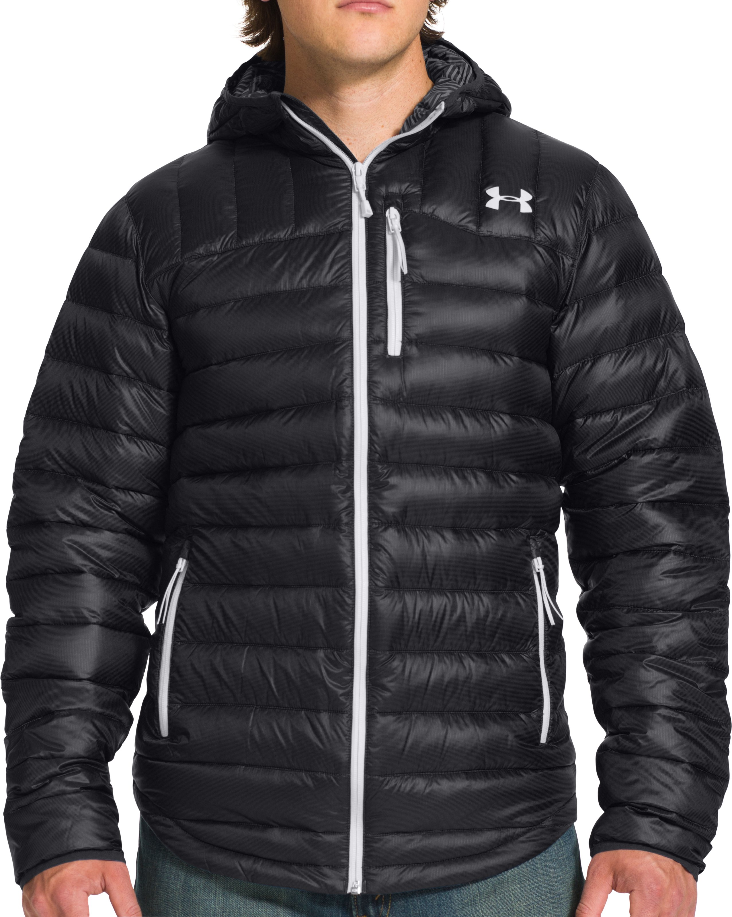 Men's UA Storm ColdGear® Infrared Turing Hooded Jacket, Black , Front