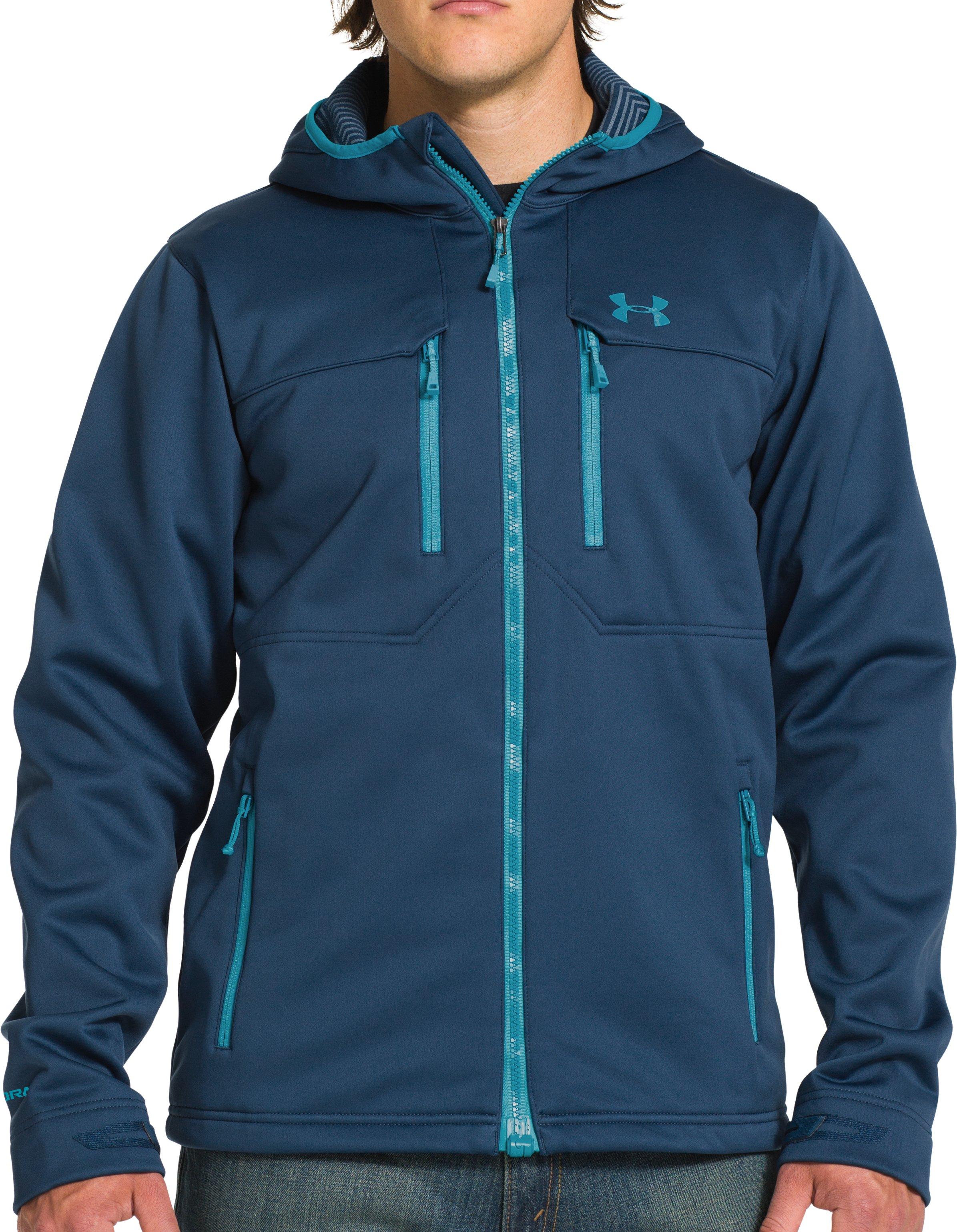 Men S Ua Storm Coldgear Infrared Hooded Softershell Jacket Under
