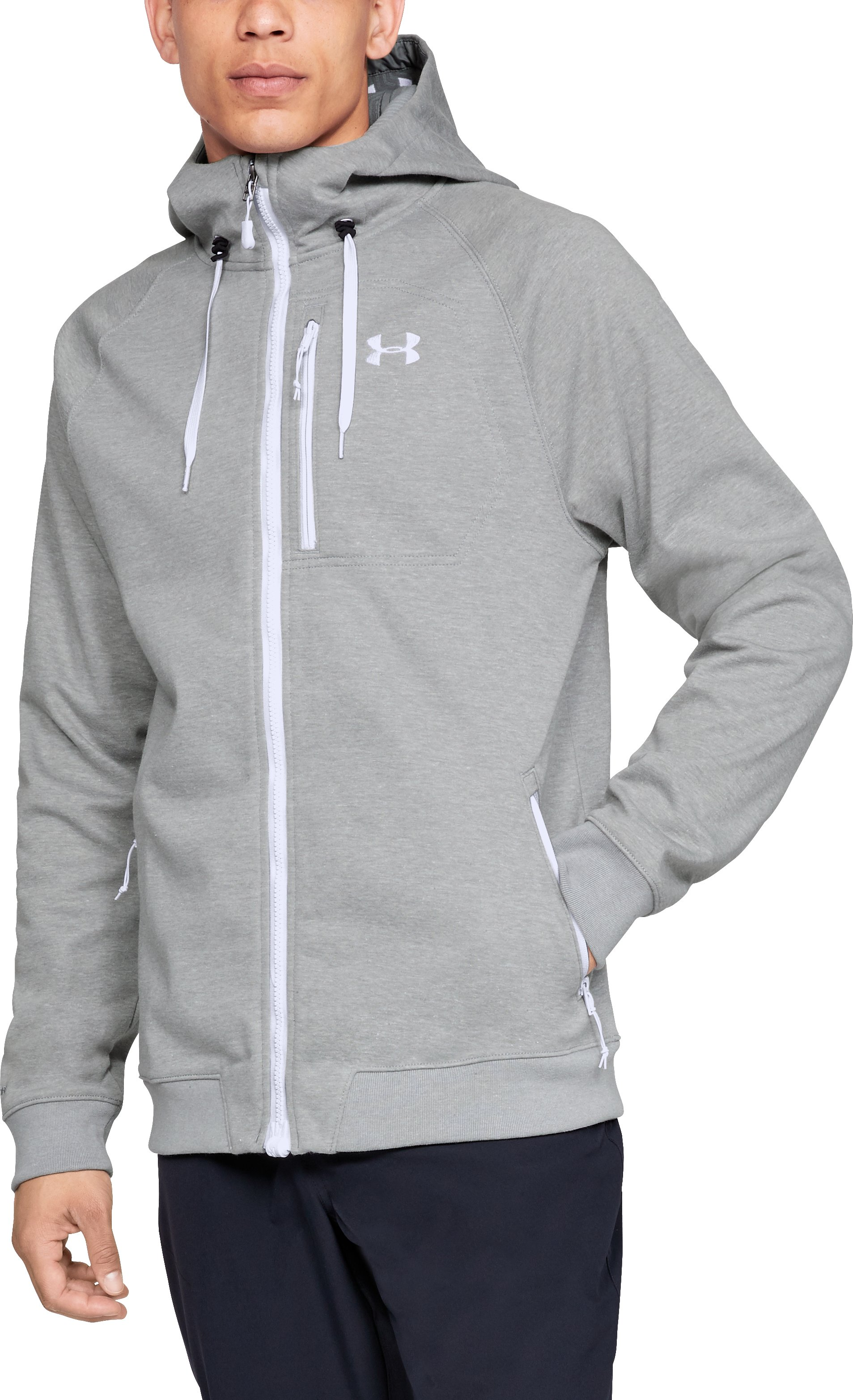 Men's UA Storm Dobson Softshell, True Gray Heather,