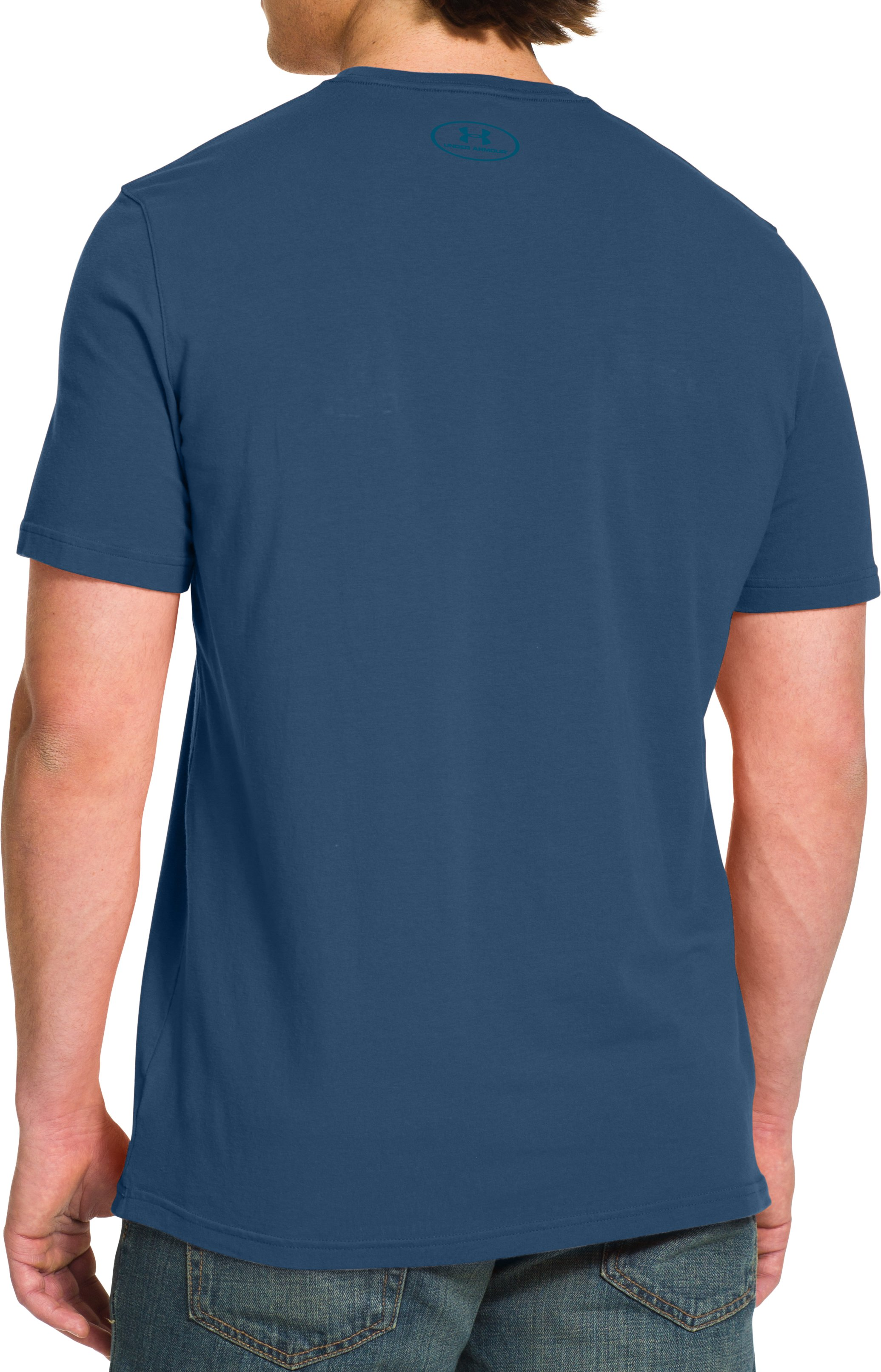 Men's UA Mainpark T-Shirt, PETROL BLUE, Back