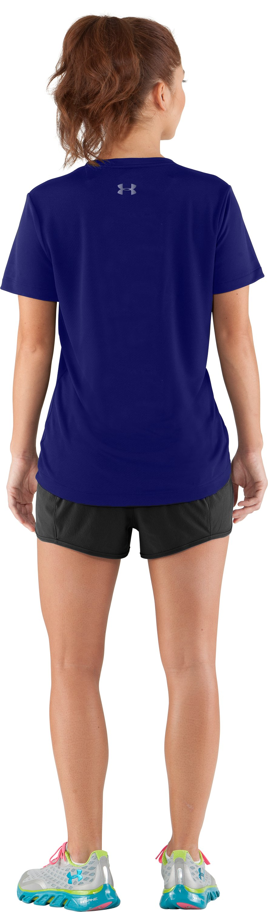 Women's UA I Will Short Sleeve, Monarchy, Back