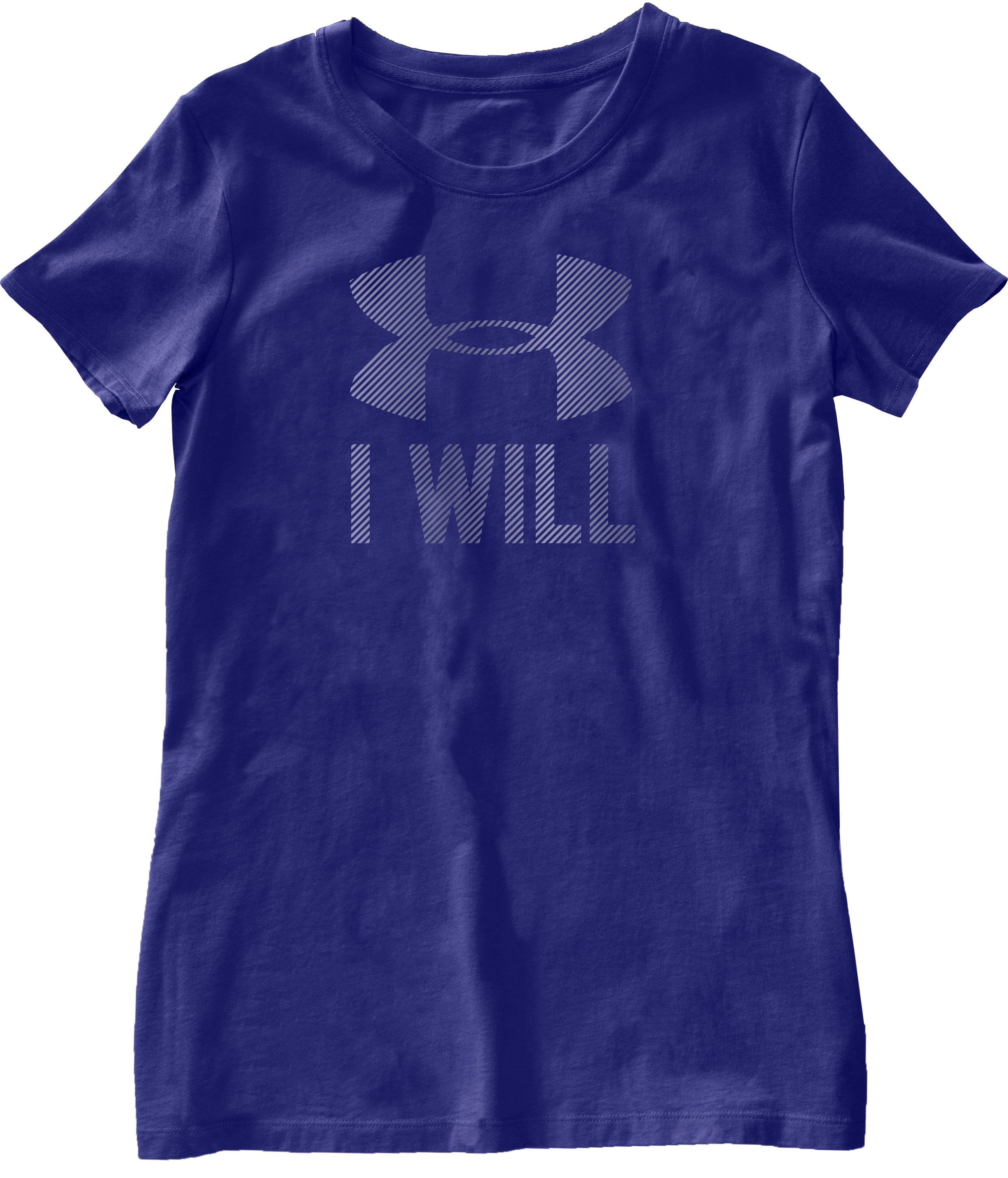 Women's UA I Will Short Sleeve, Monarchy, Laydown