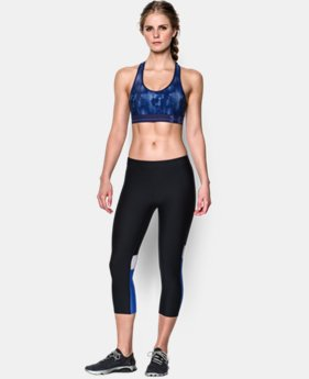 Women's UA HeatGear® Armour Printed Sports Bra