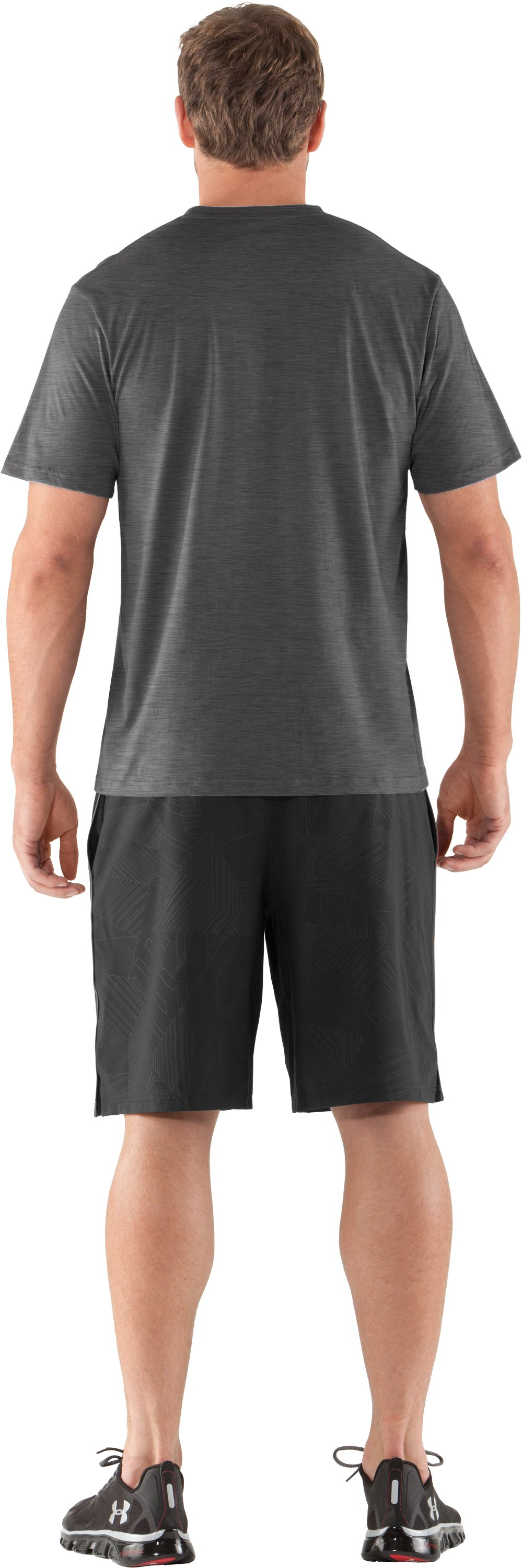 Men's UA Put In Work T-Shirt, Carbon Heather, Back