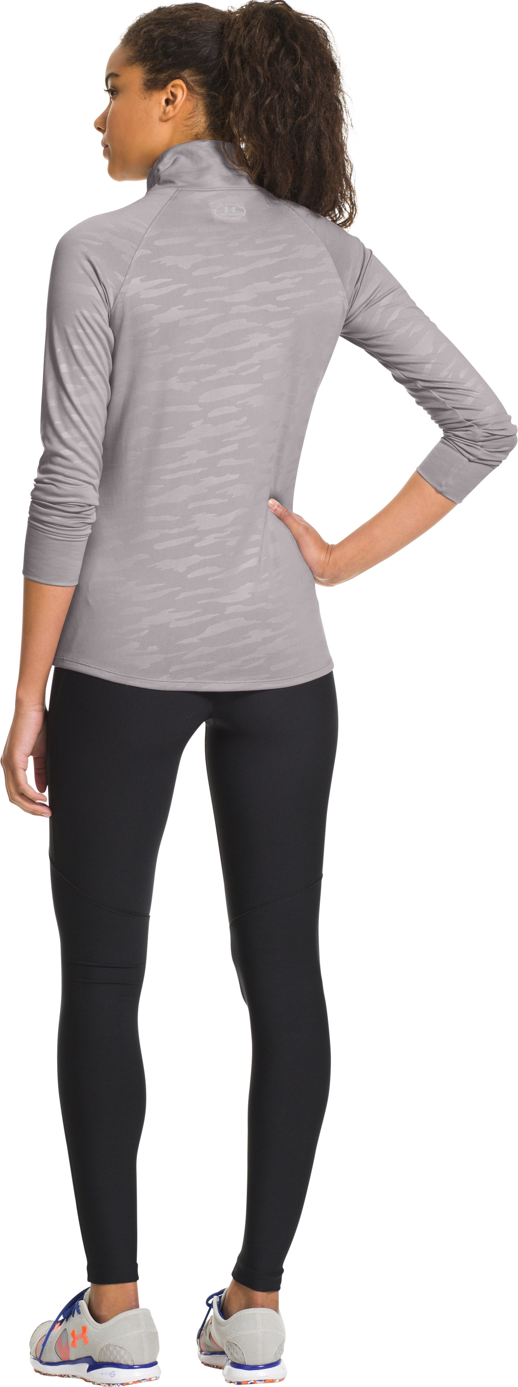 Women's UA Tech™ ½ Zip, MOON MIST, Back