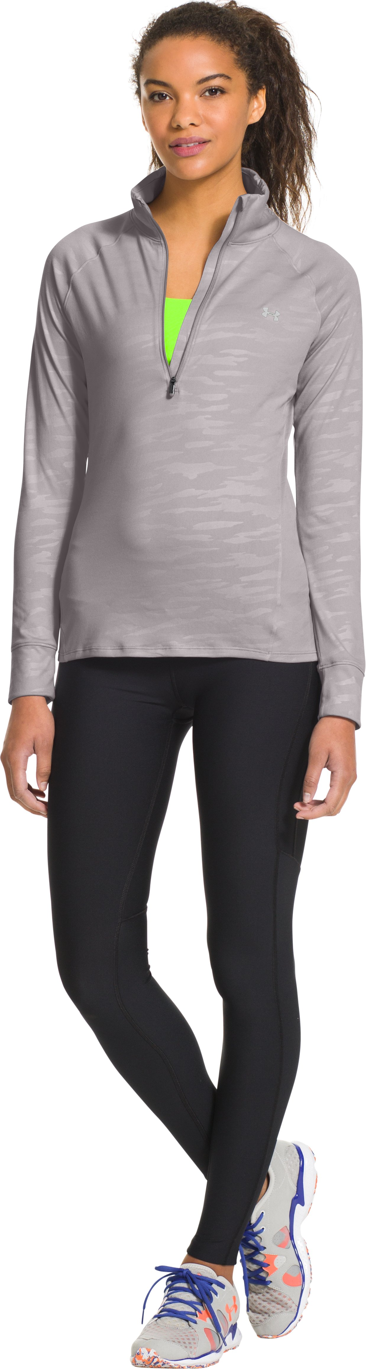 Women's UA Tech™ ½ Zip, MOON MIST, Front
