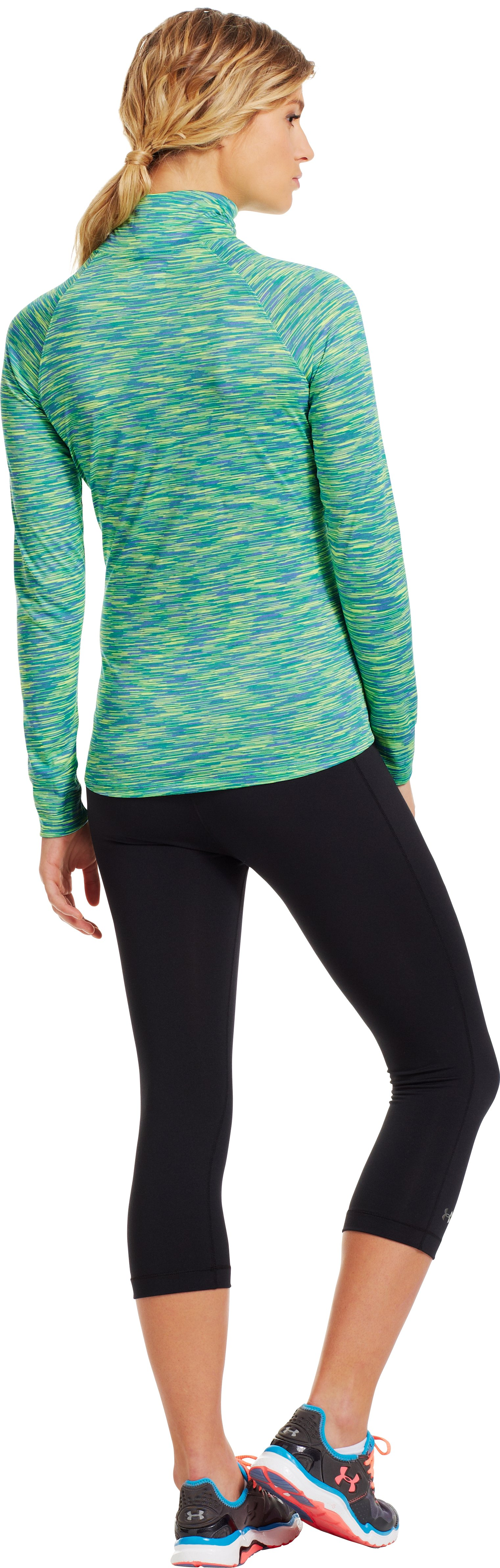 Women's UA Tech™ ½ Zip, EMERALD LAKE, Back