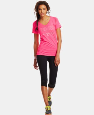 Women's UA Power In Pink® Race V-Neck  1 Color $21.99