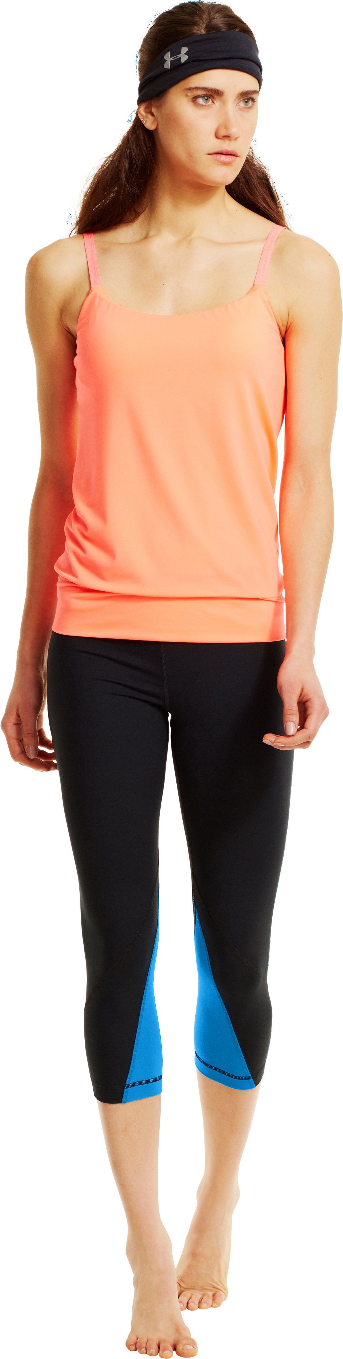 Women's UA Perfect Rave Retro Capri, Black , Front