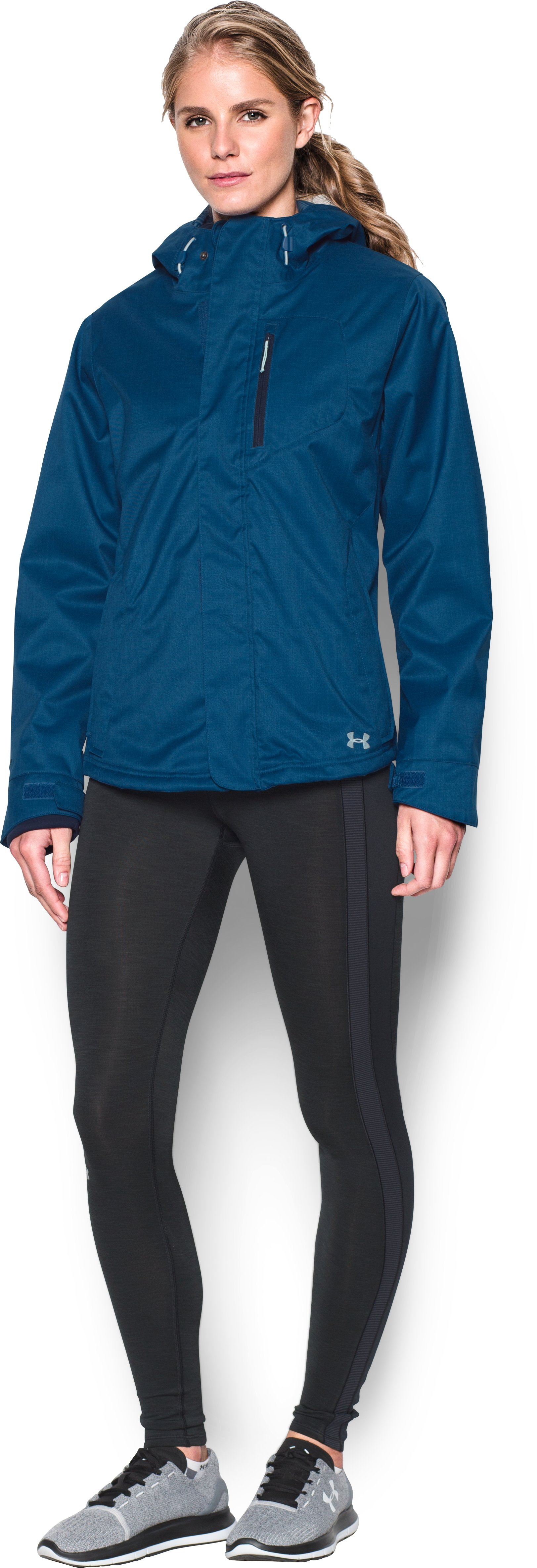 Women's UA ColdGear® Infrared Sienna 3-In-1 Jacket, HERON, Front