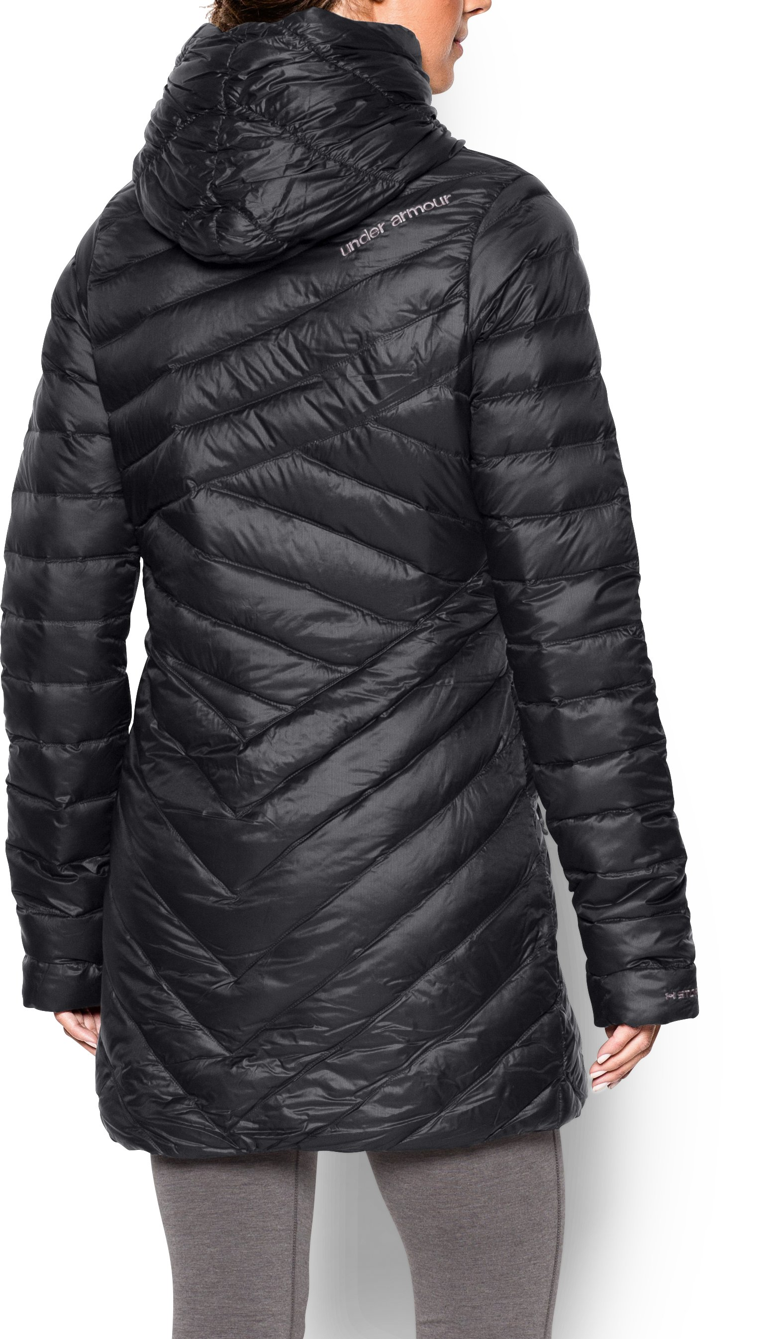 Women's UA Storm ColdGear® Infrared Uptown Parka, Black , Back