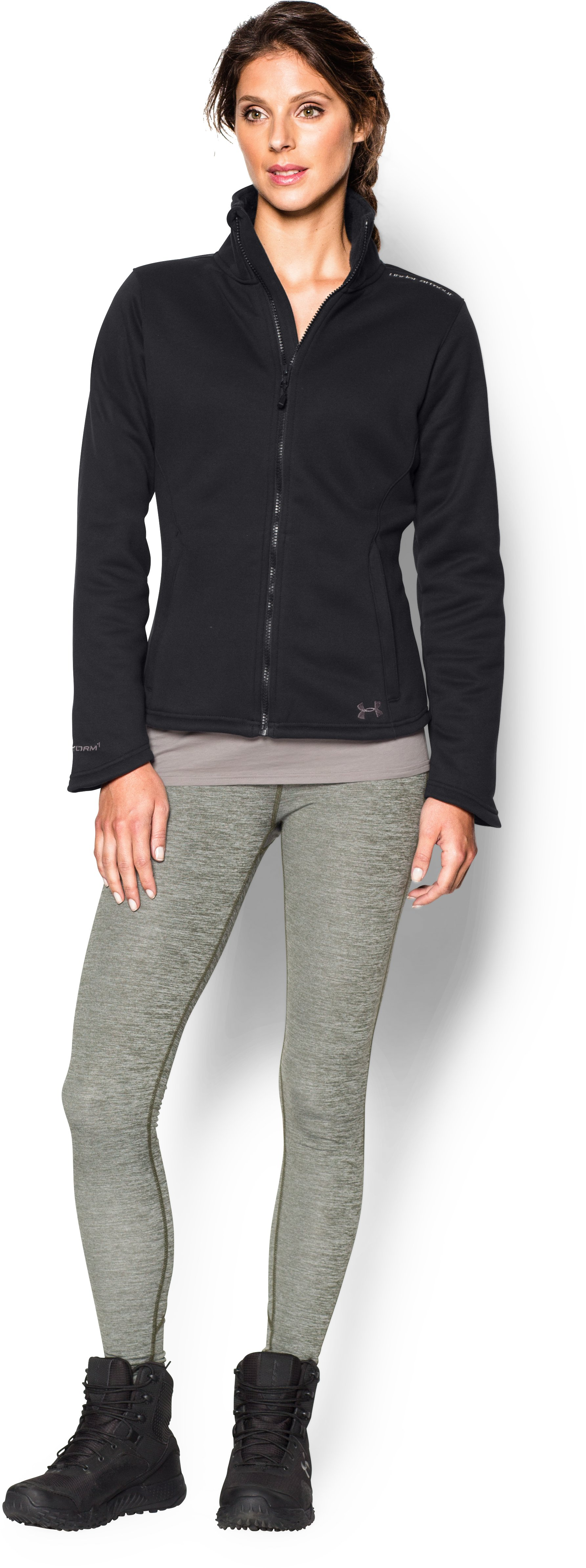 Women's UA Extreme ColdGear® Jacket, Black , zoomed image