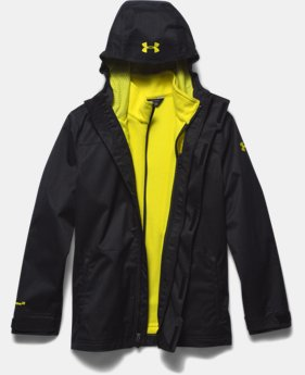 Boys' UA Storm ColdGear® Infrared Wildwood 3-in-1 Jacket