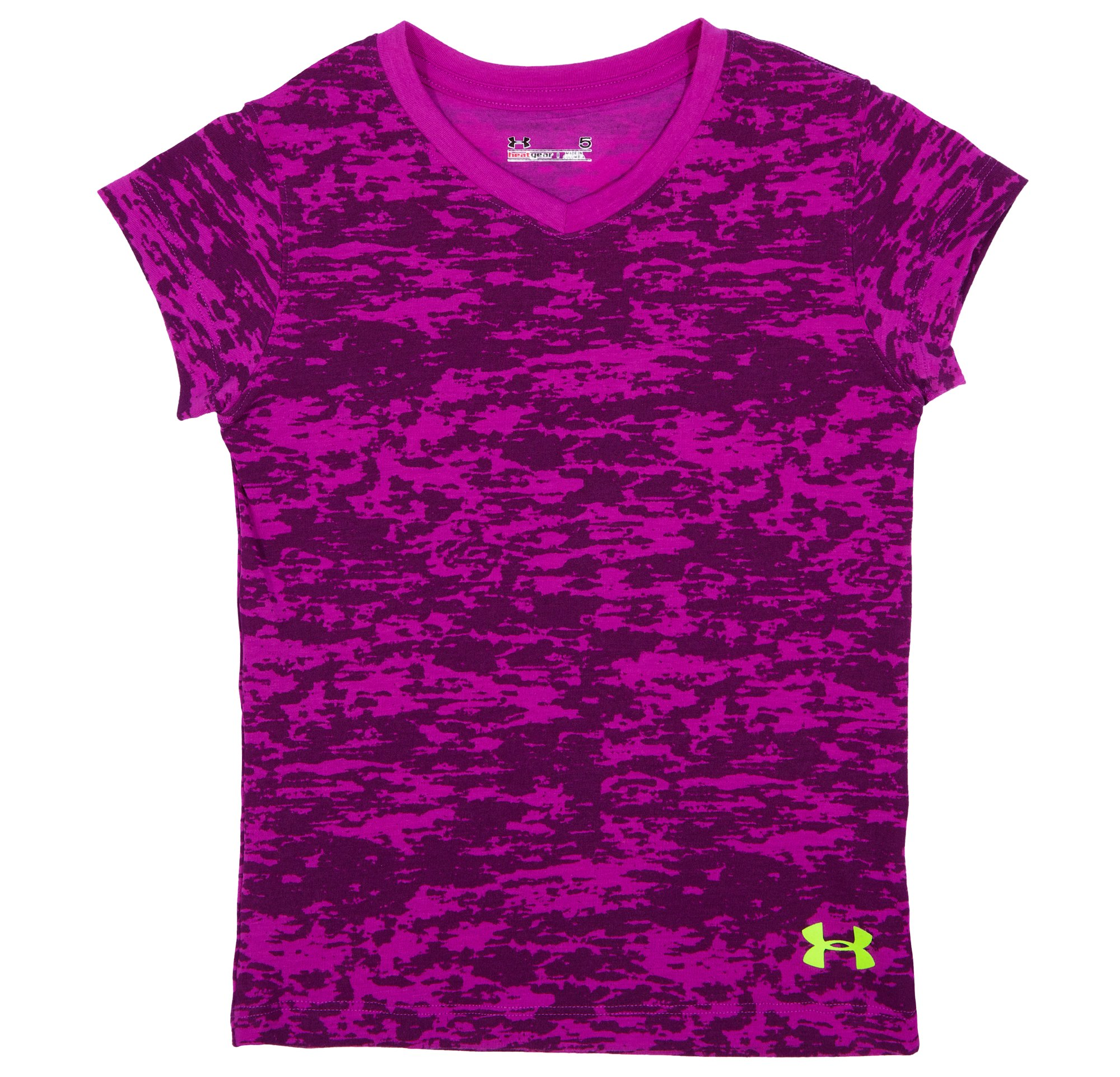 Girls' Pre-School UA Faux Burnout V-Neck, STROBE, Laydown