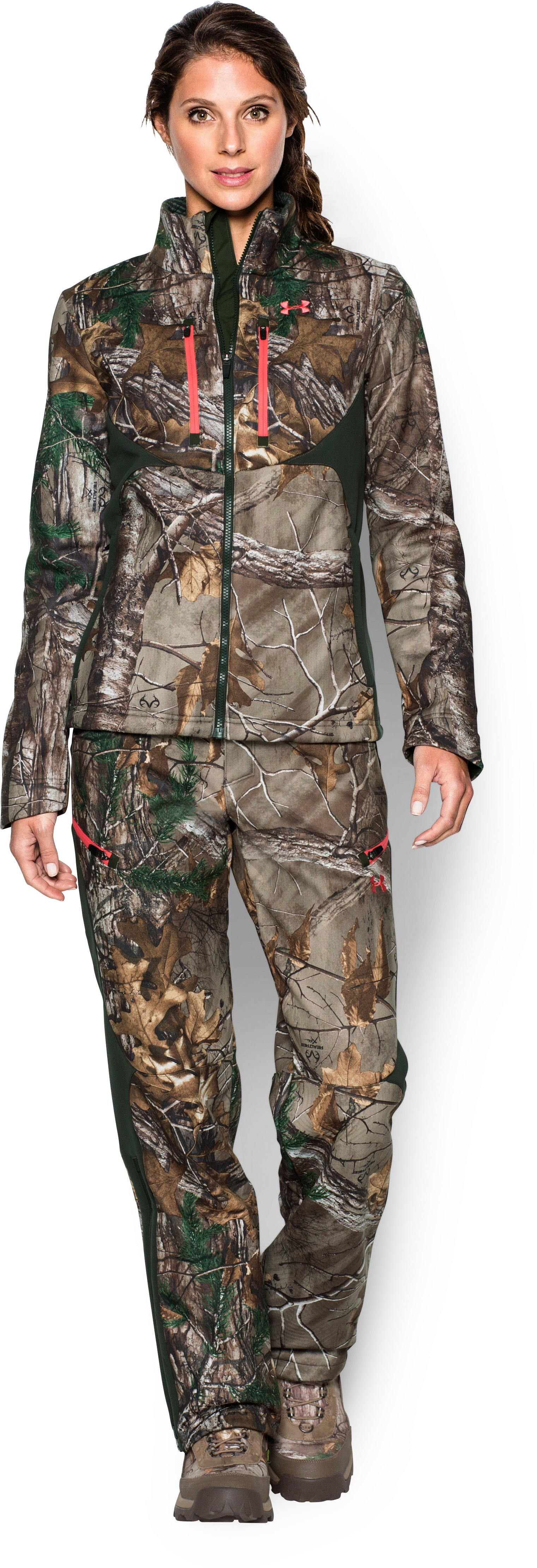 Women's ColdGear® Infrared Speed Freek Jacket, REALTREE AP-XTRA, zoomed image