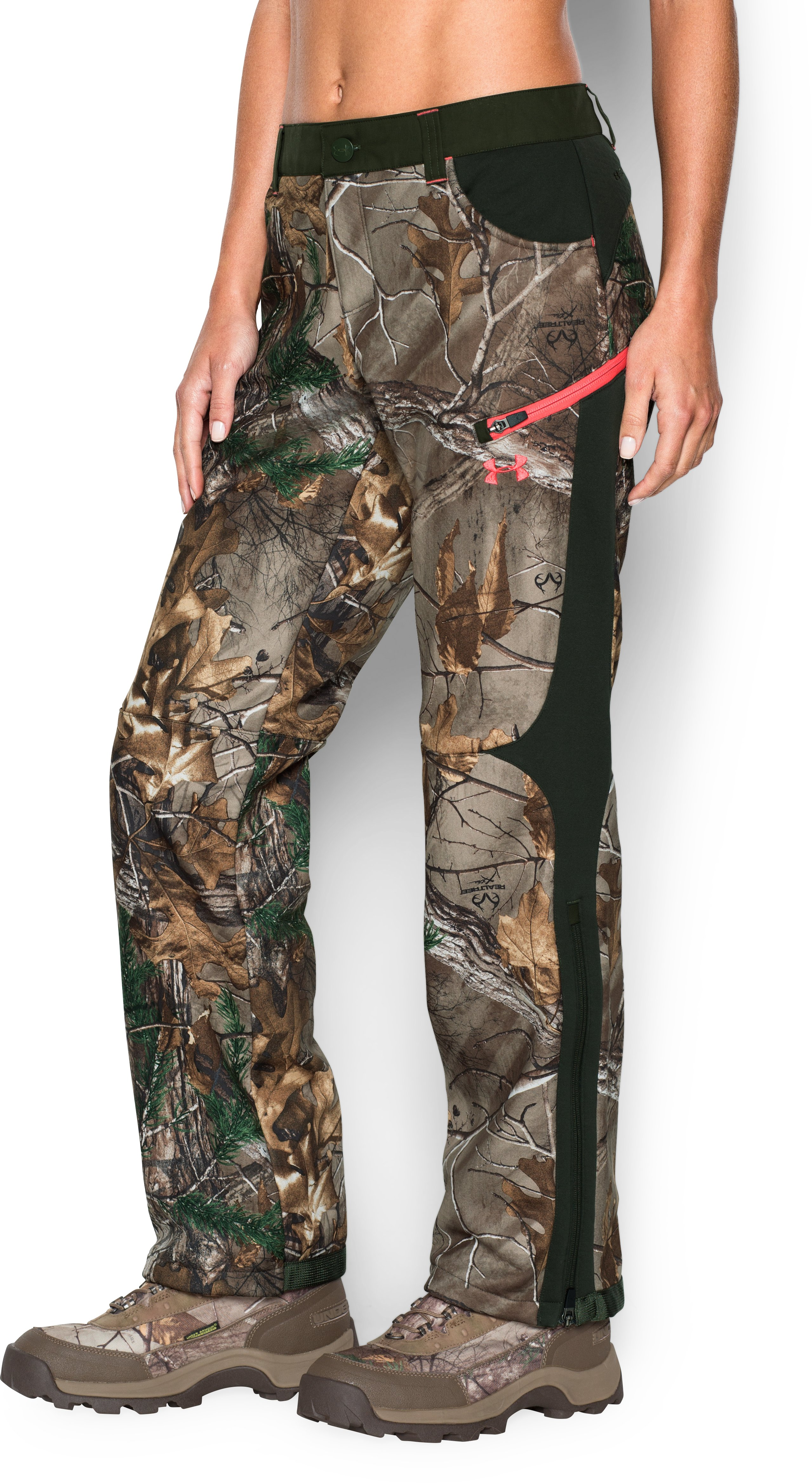 Women's ColdGear® Infrared Speed Freek Pant, REALTREE AP-XTRA
