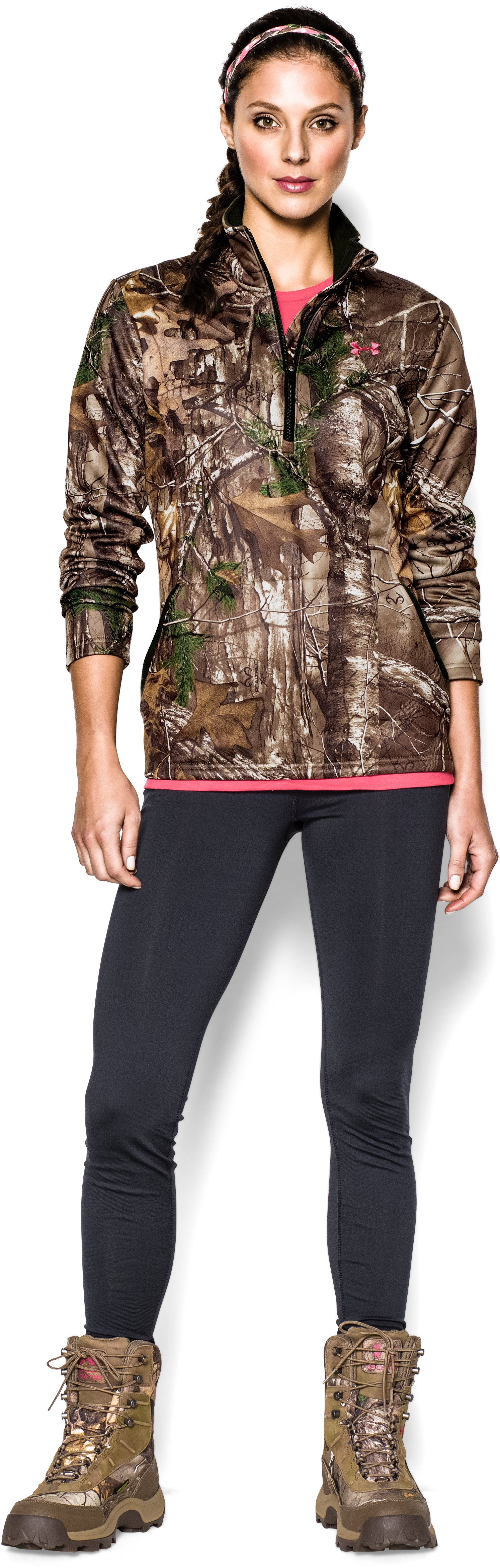 Women's UA Performance ¼ Zip, REALTREE AP-XTRA, zoomed image